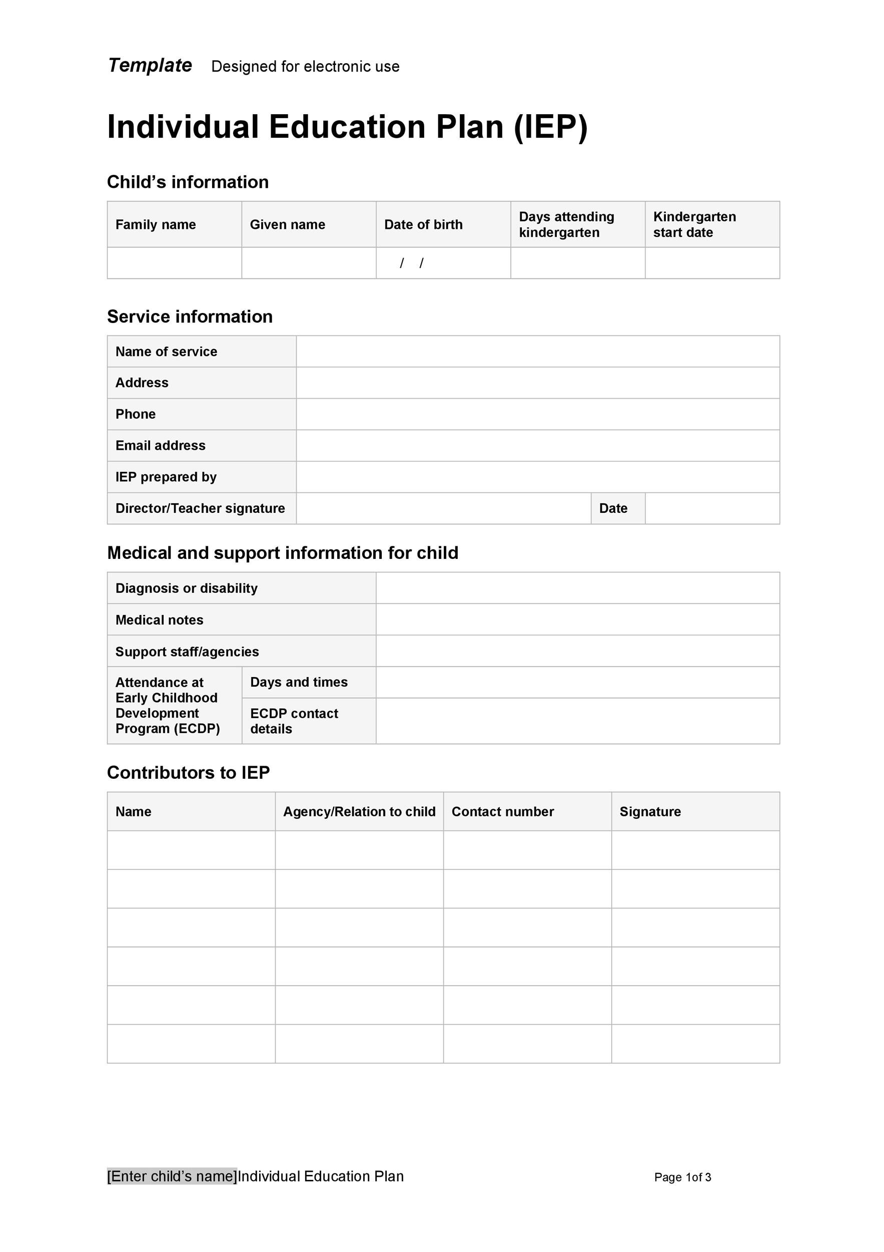 Free Transition Plan Template 39