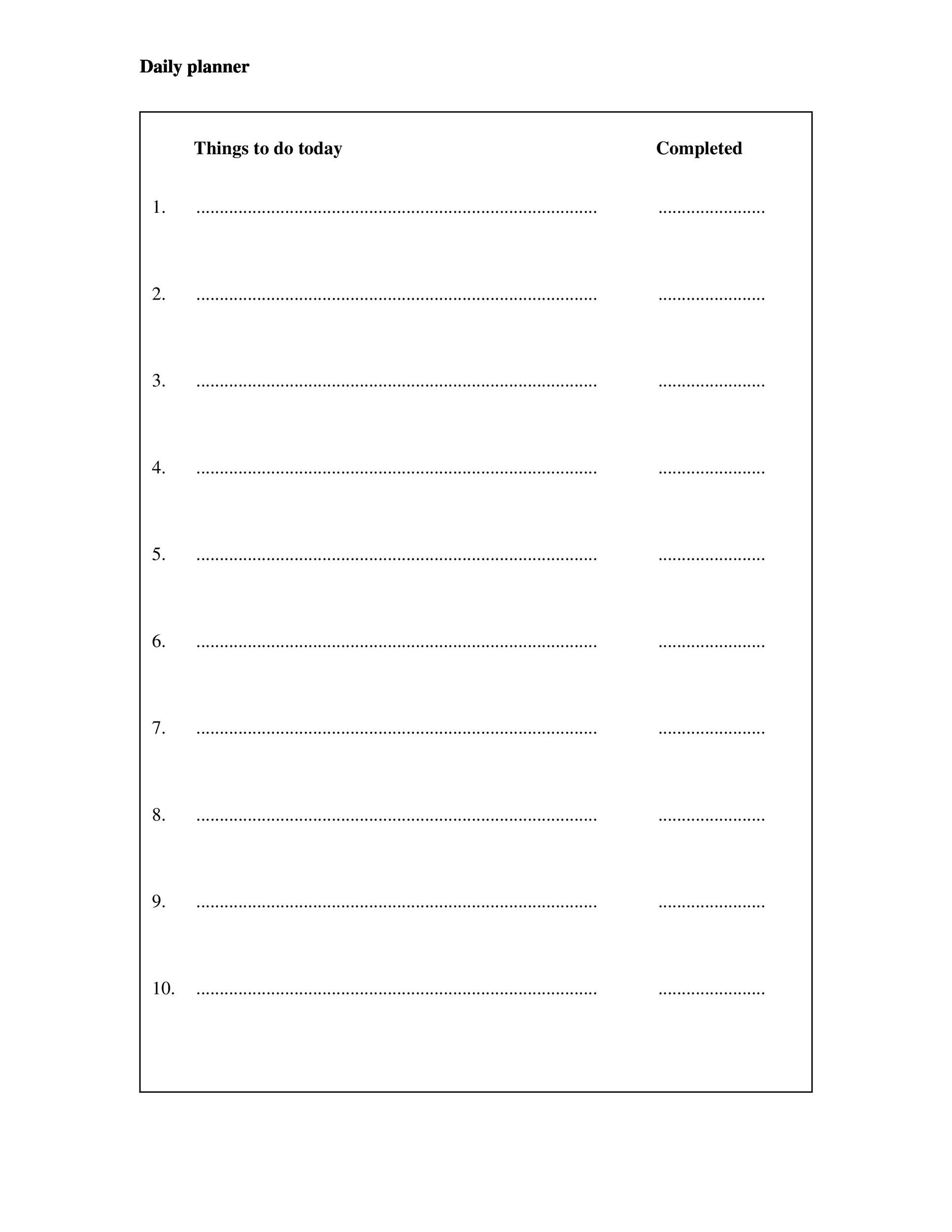 40 Printable Daily Planner Templates Free Template Lab