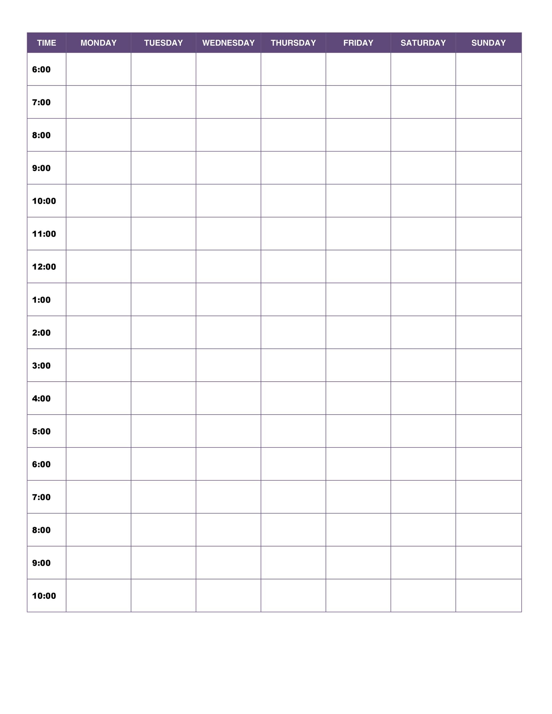 Printable Daily Planner Template 16  Daily Schedule Template Printable