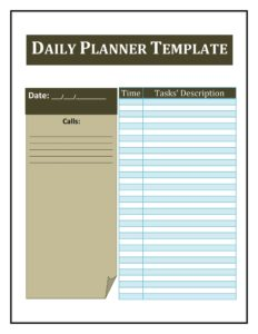 daily planner template 22