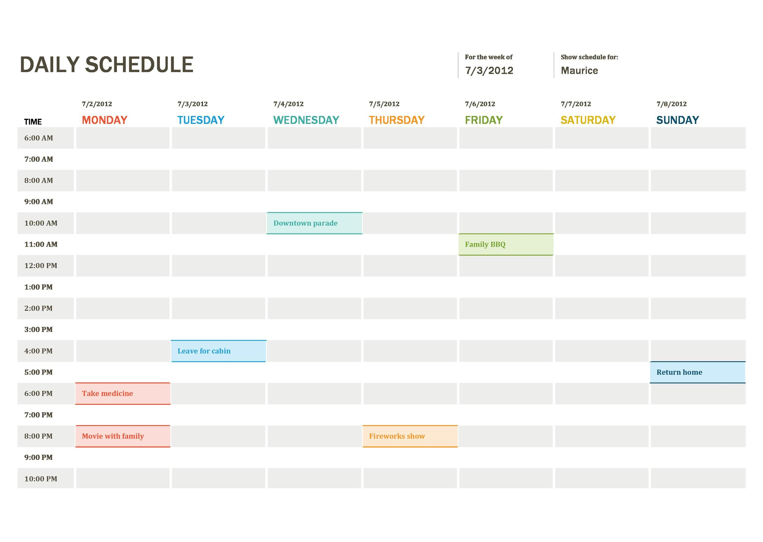 Free daily planner template 23