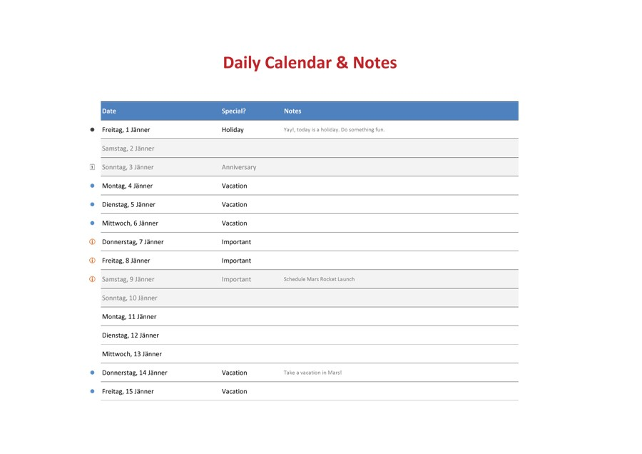 Printable Daily Planner Template 43