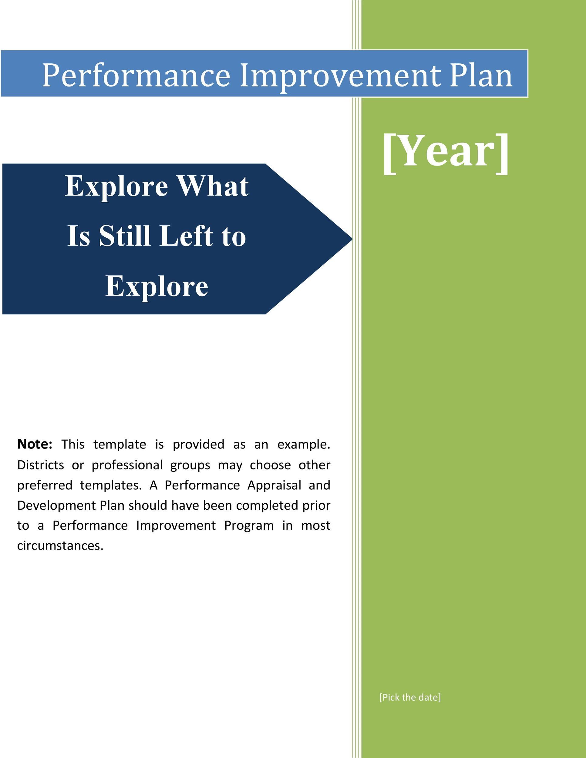 Free performance improvement plan template 41
