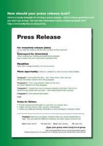 press release template 13