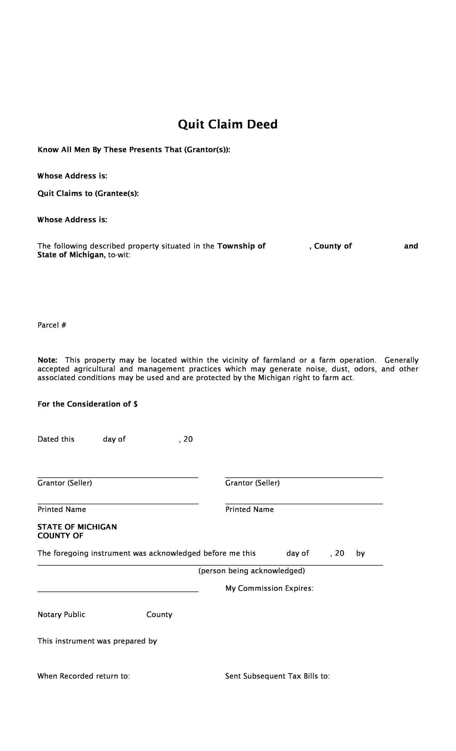 Free Quit Claim Deed Template 02