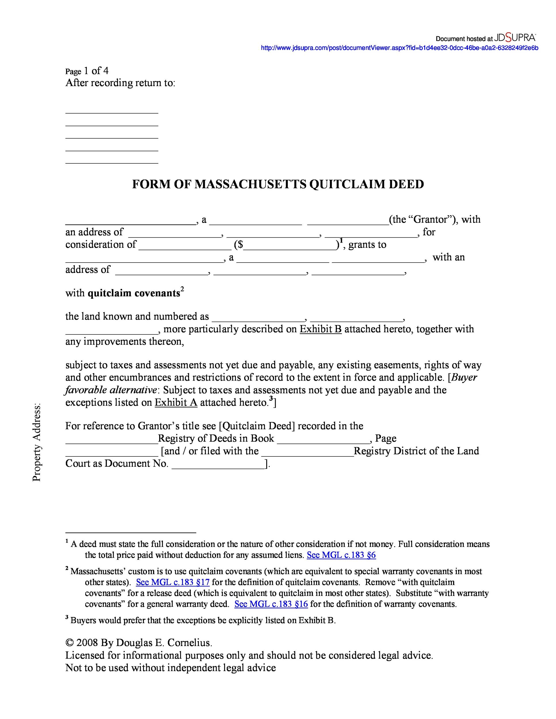 Good Printable Quit Claim Deed Template 09