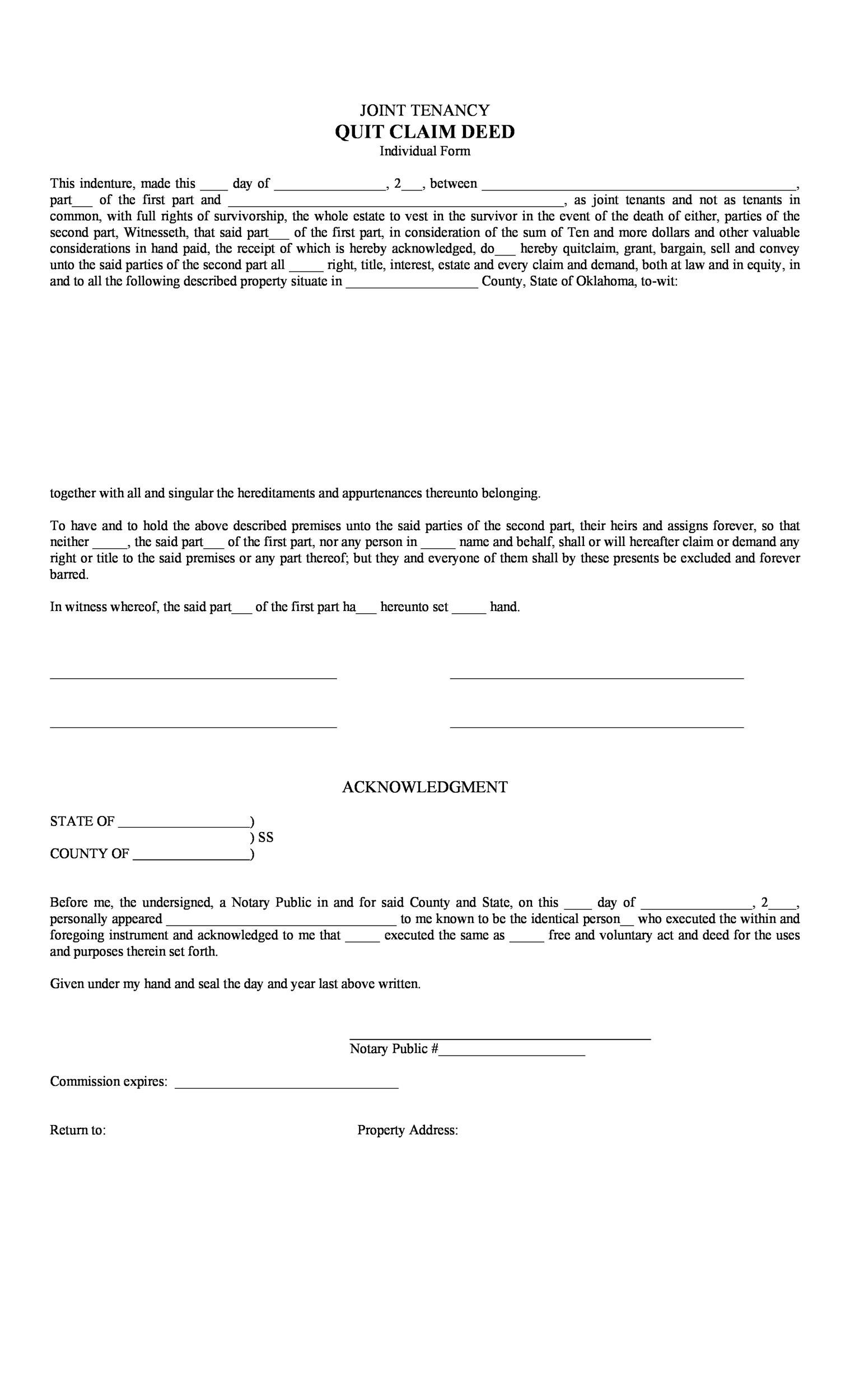 Free Quit Claim Deed Template 11