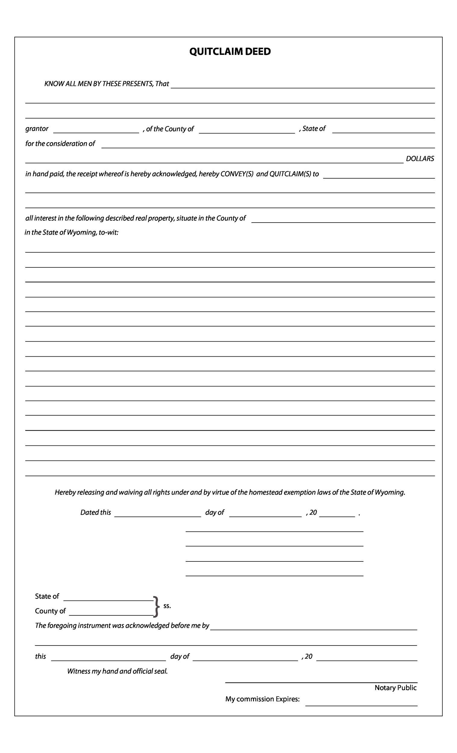 Printable Quit Claim Deed Template 14