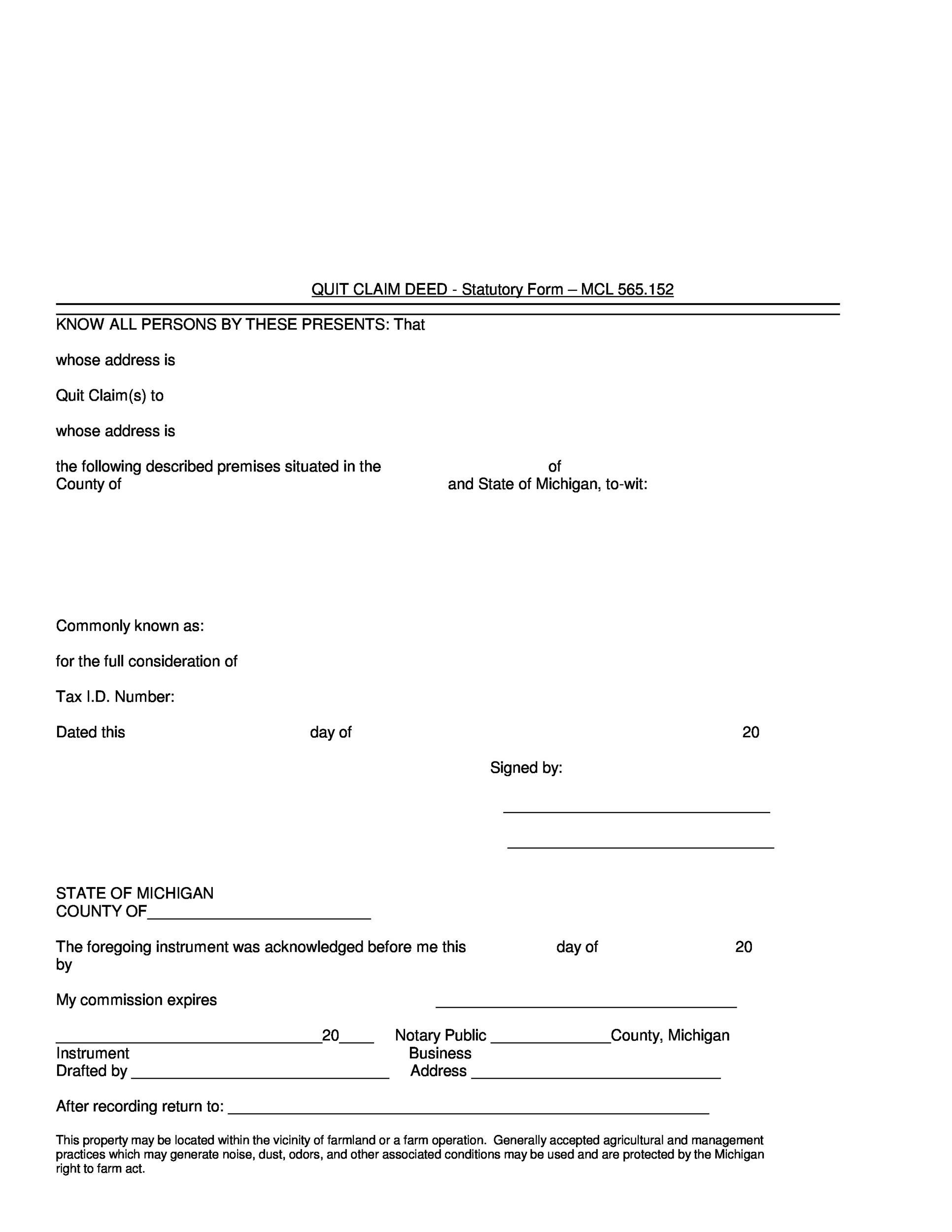 Free Quit Claim Deed Template 16