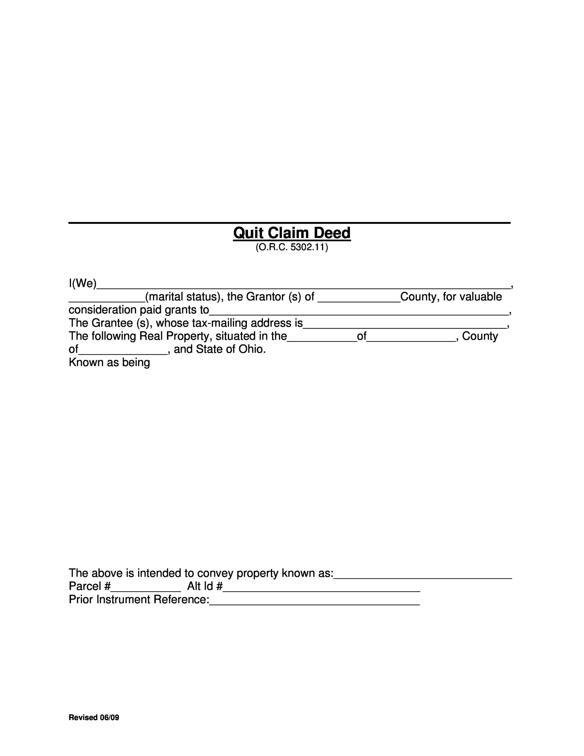 Free Quit Claim Deed Template 41
