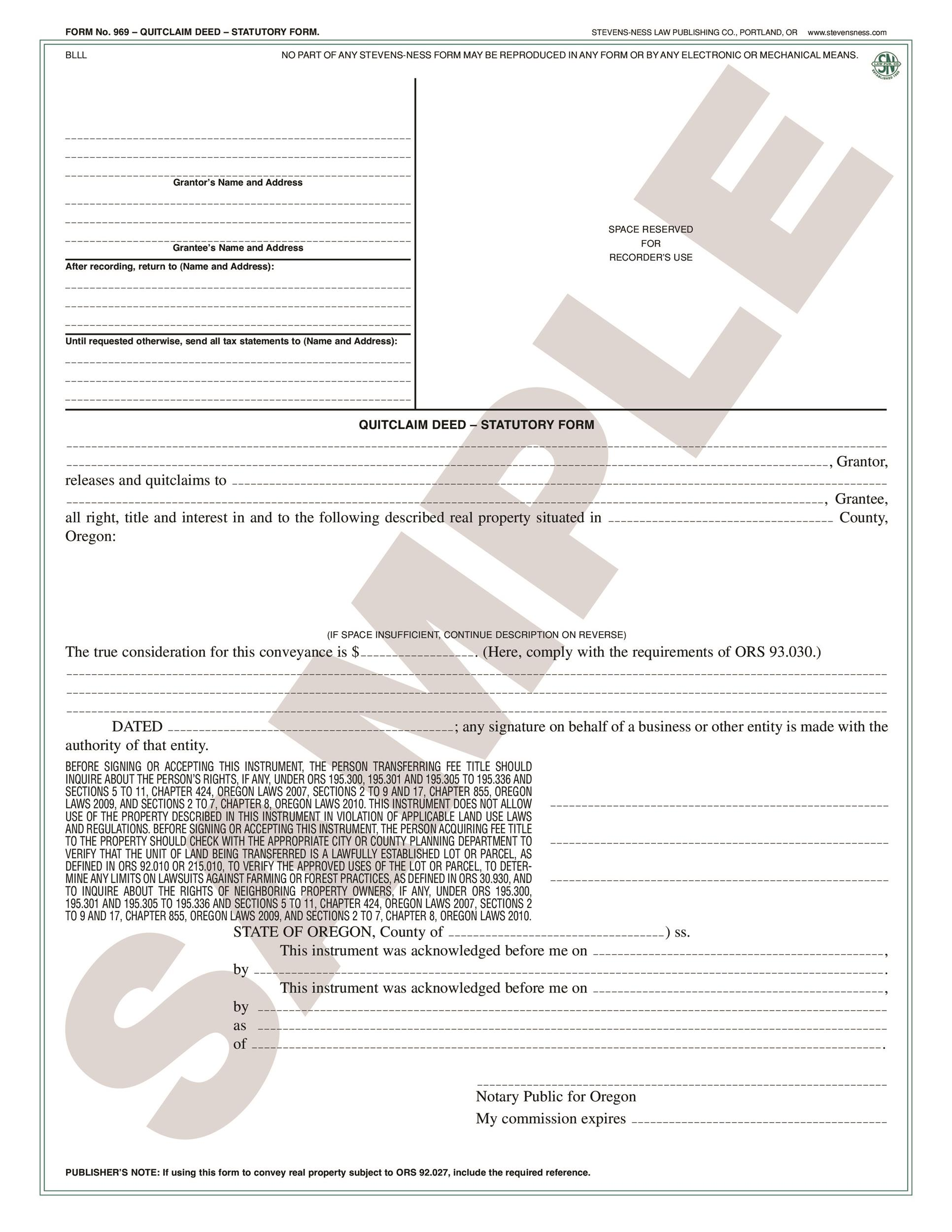 Printable Quit Claim Deed Template 46