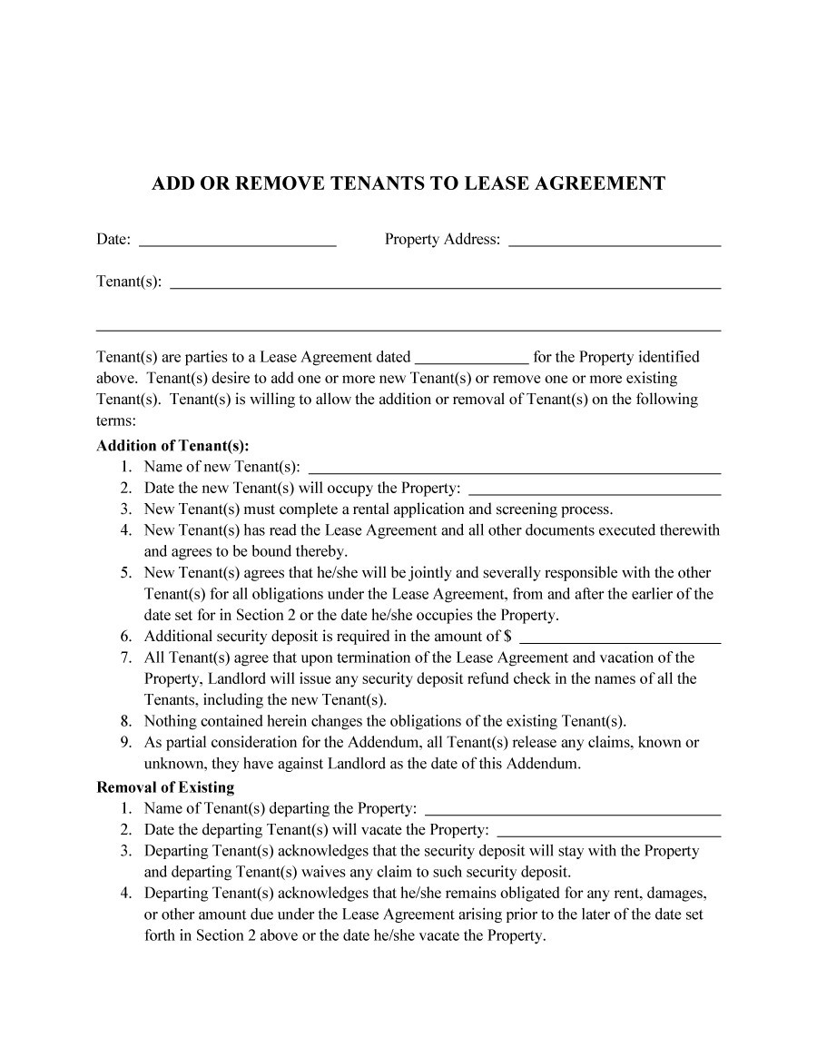 Free roommate agreement template 02