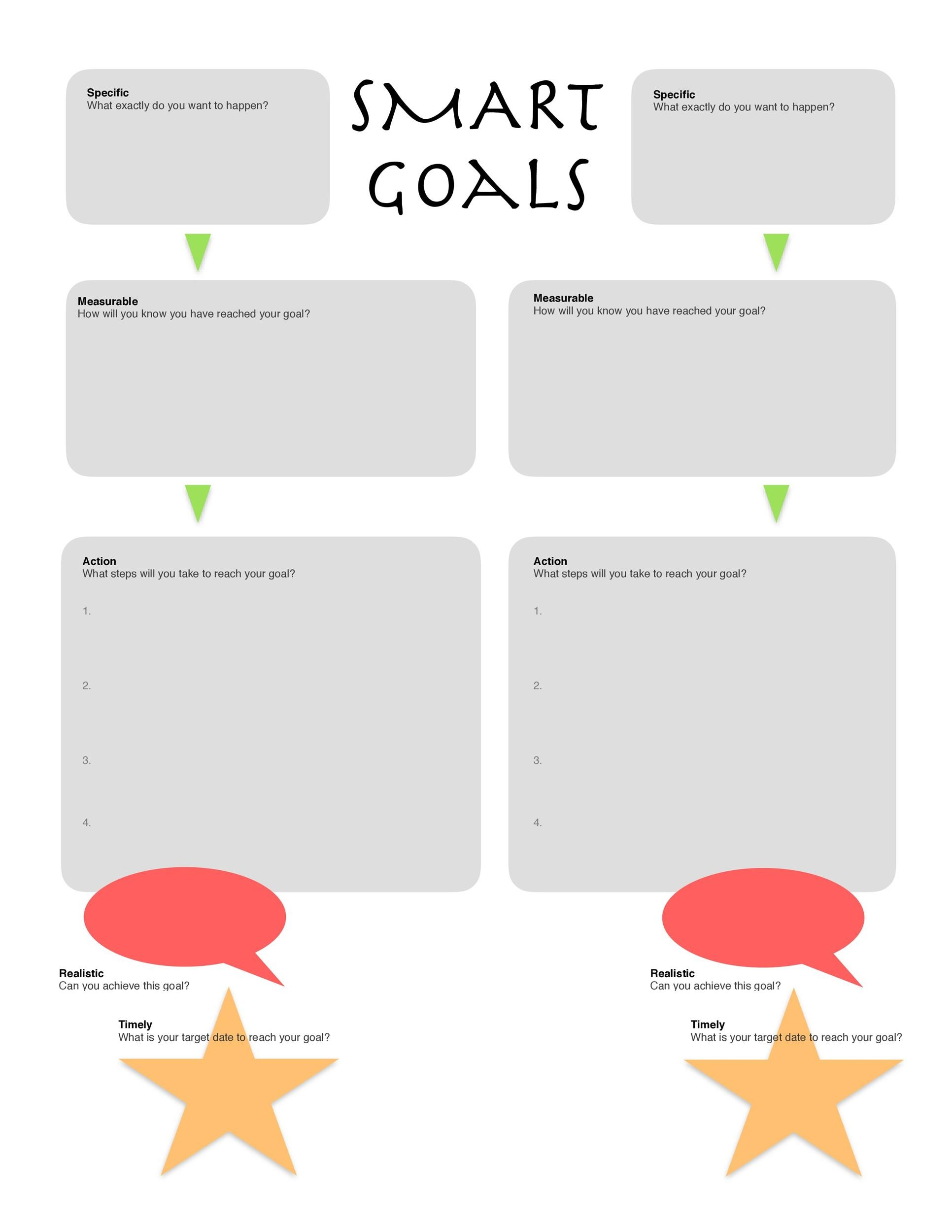 Printables Smart Goals Worksheets 48 smart goals templates examples worksheets template lab 23