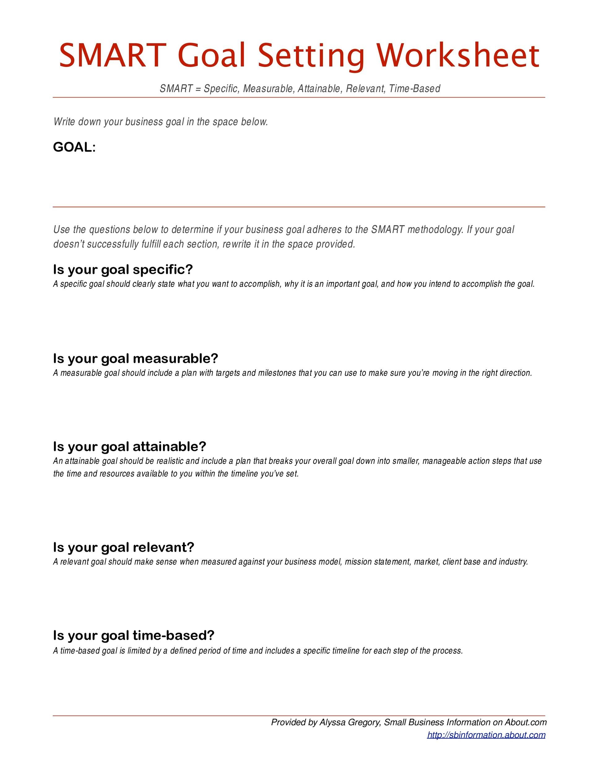 Worksheets Smart Goal Setting Worksheet 48 smart goals templates examples worksheets template lab printable 40