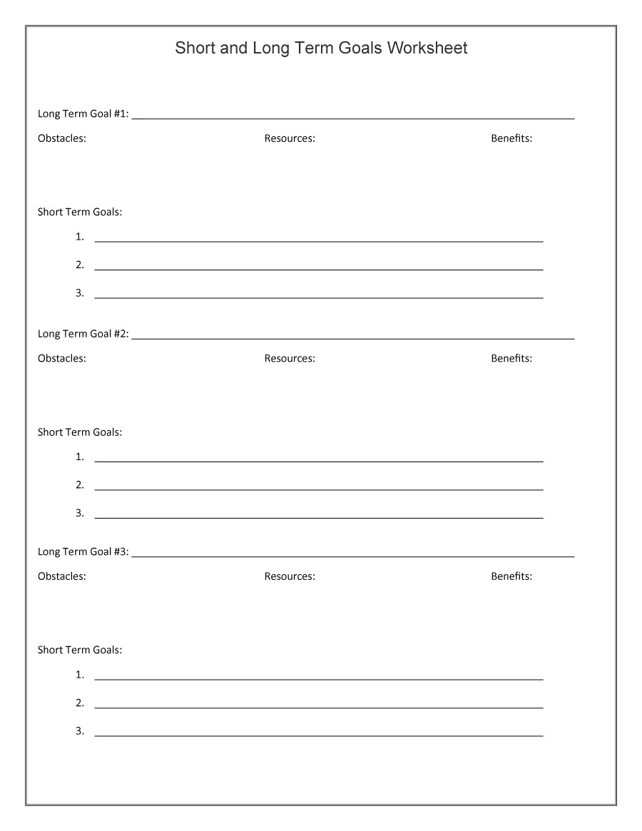 Worksheets Smart Goal Setting Worksheet 48 smart goals templates examples worksheets template lab free 42