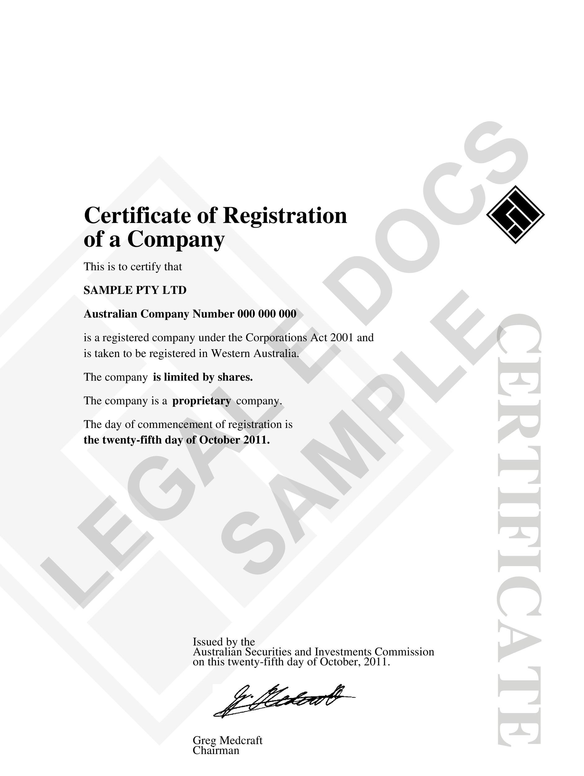 40 free stock certificate templates word pdf With share certificate template australia