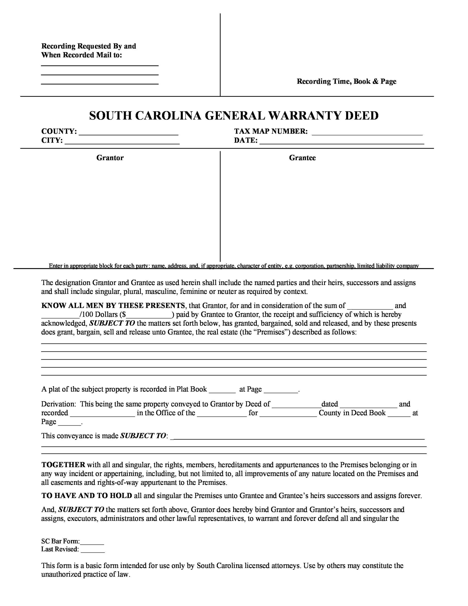 Free Warranty deed template 04