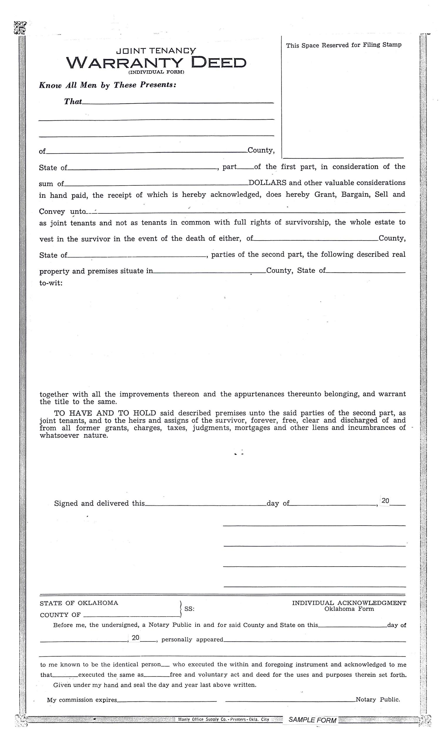 Free Warranty deed template 05