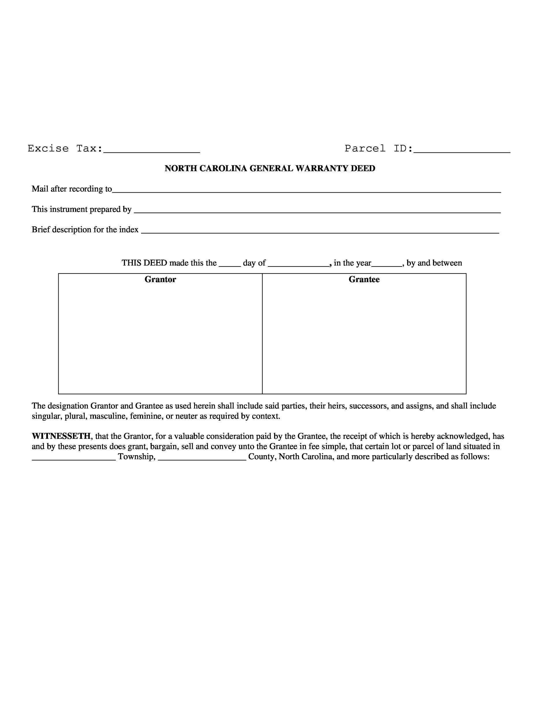 Free Warranty deed template 11