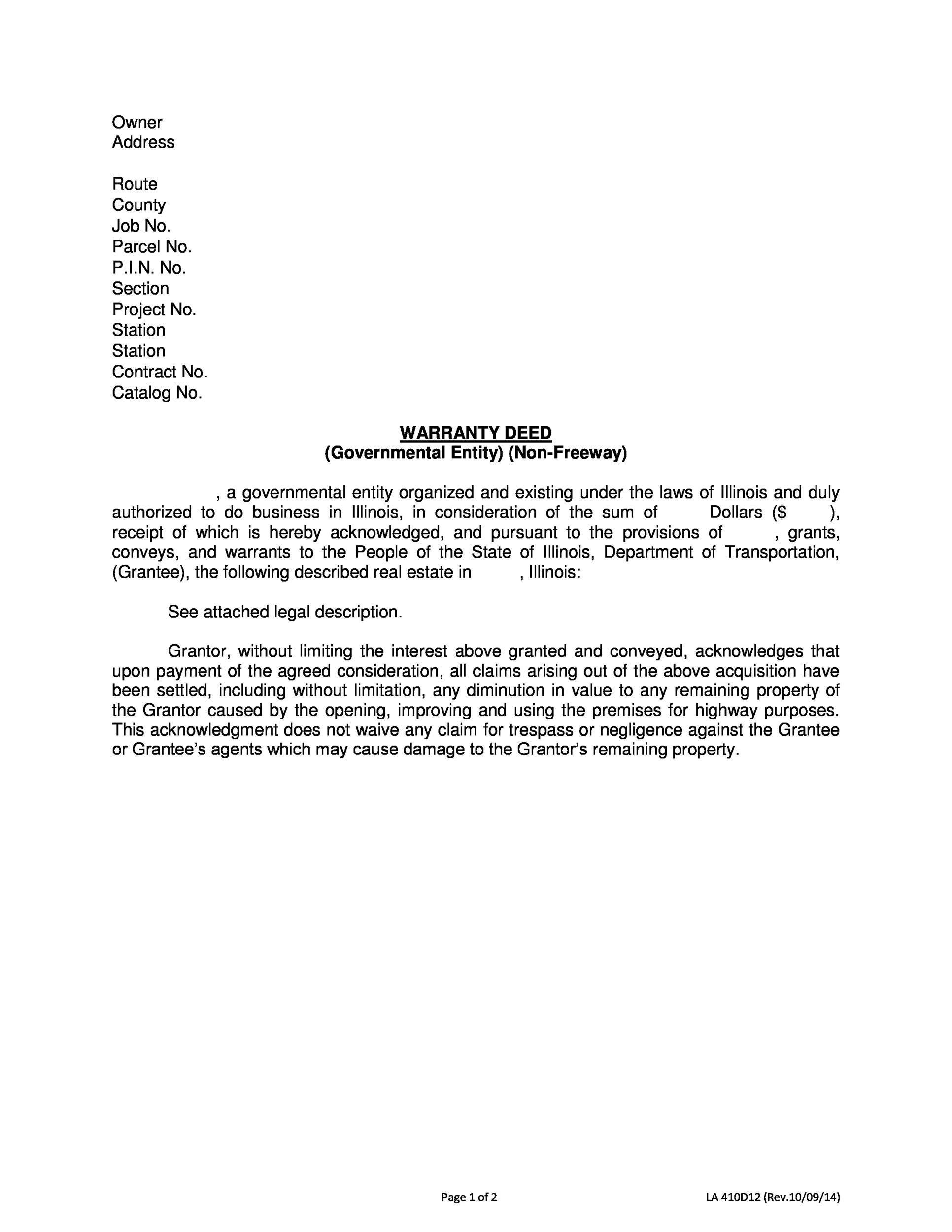Free Warranty deed template 17