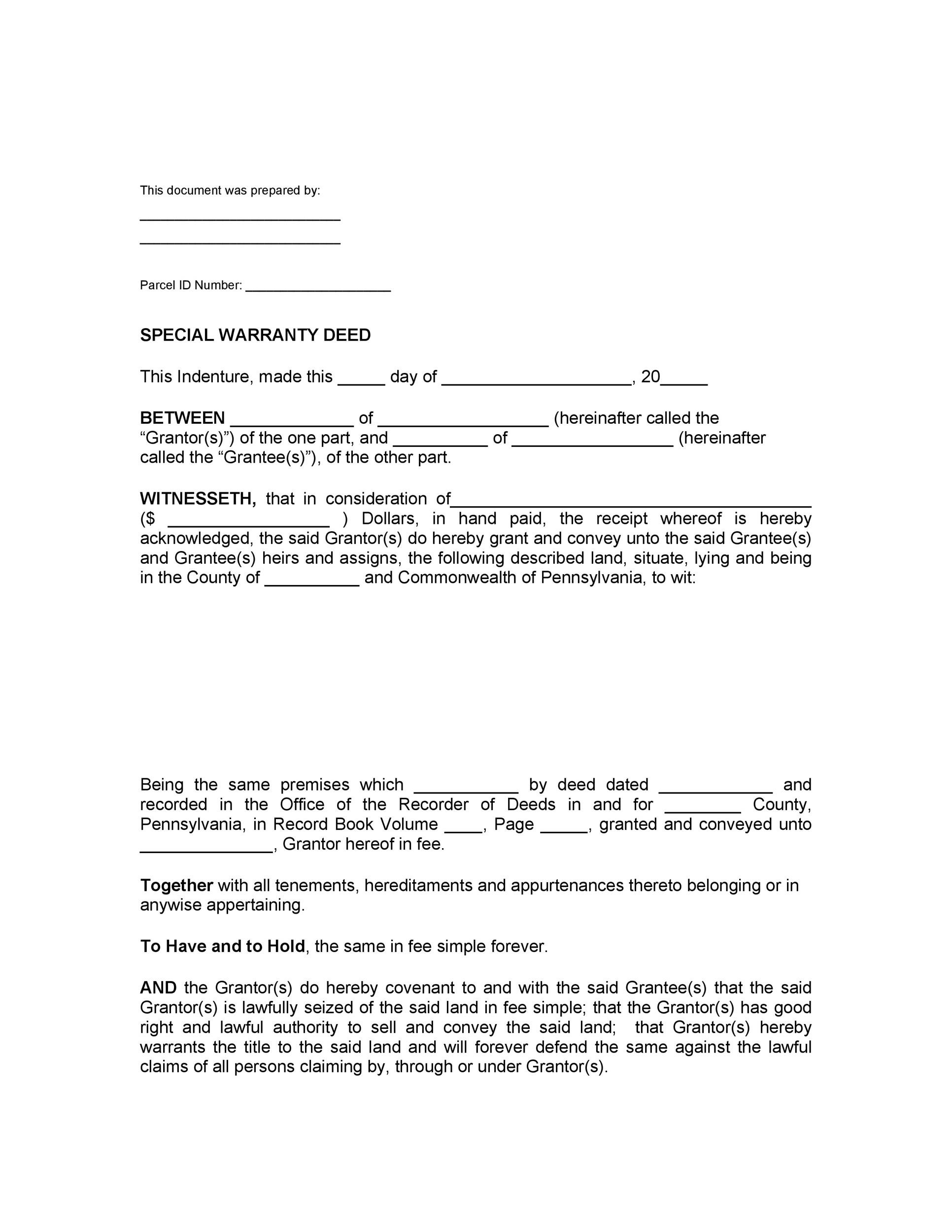 Free Warranty deed template 19