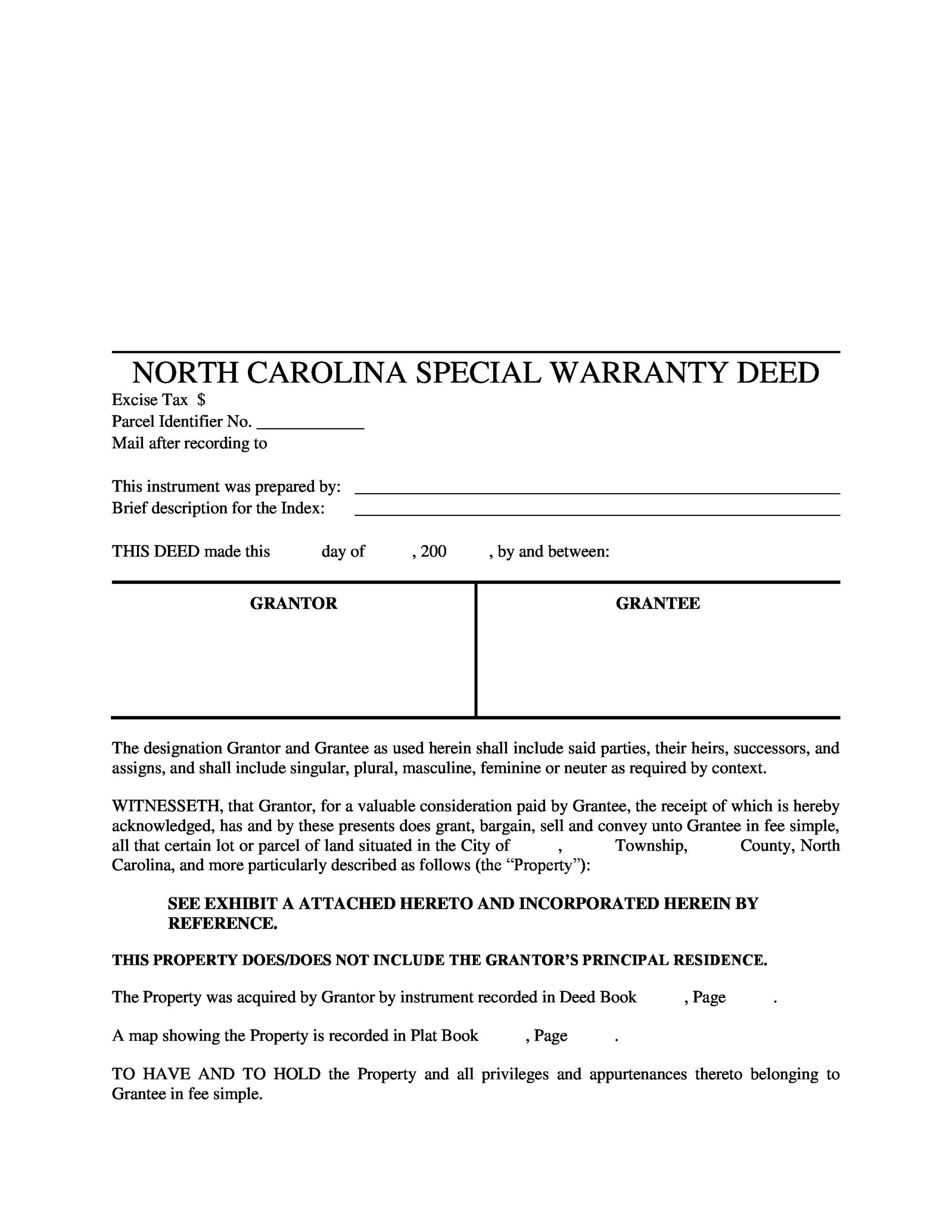 Free Warranty deed template 38