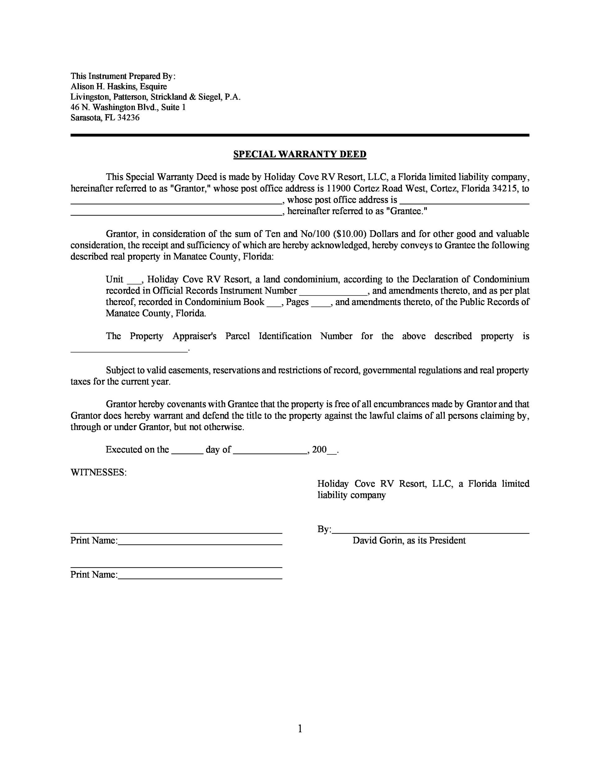 Free Warranty deed template 41
