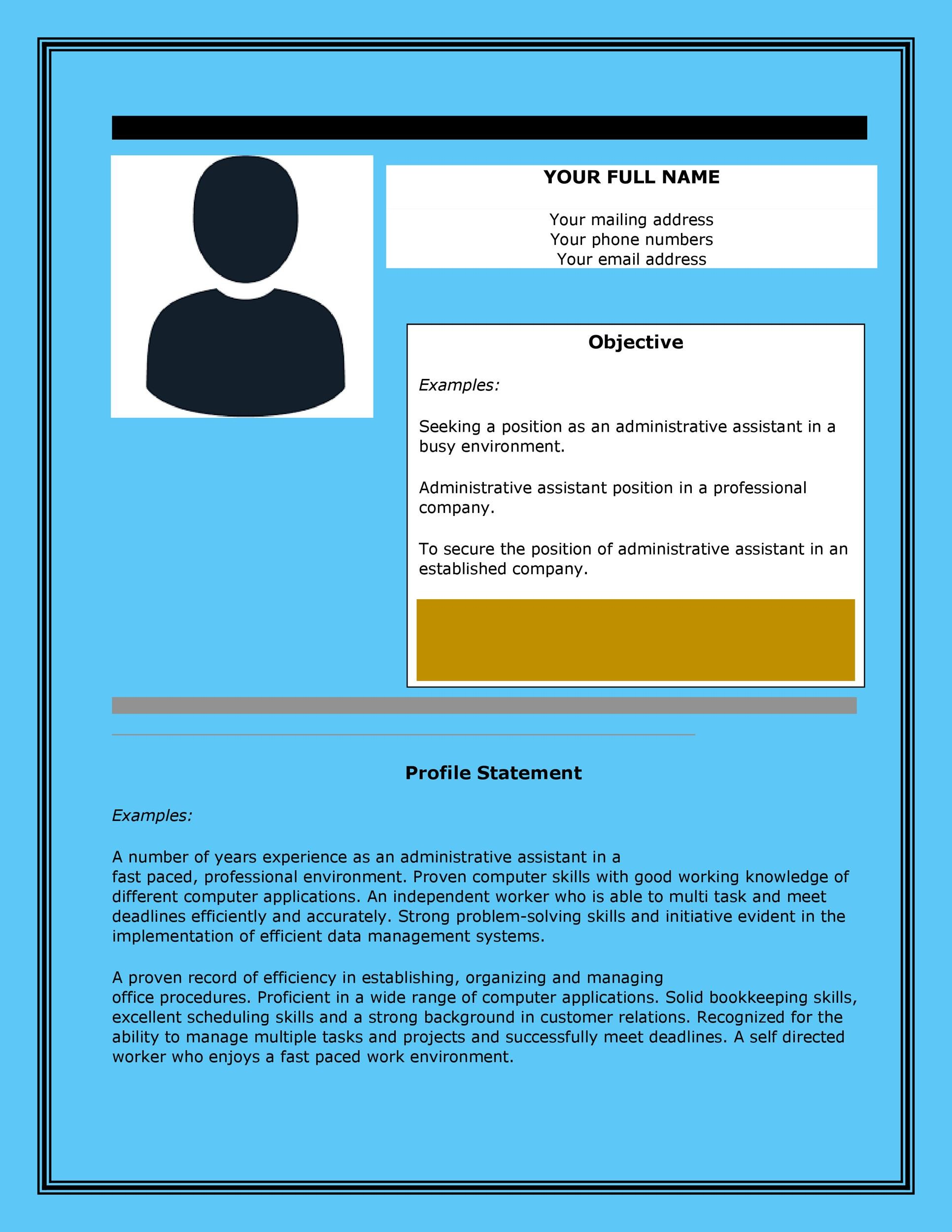 Free Administrative Assistant Resume Template 04