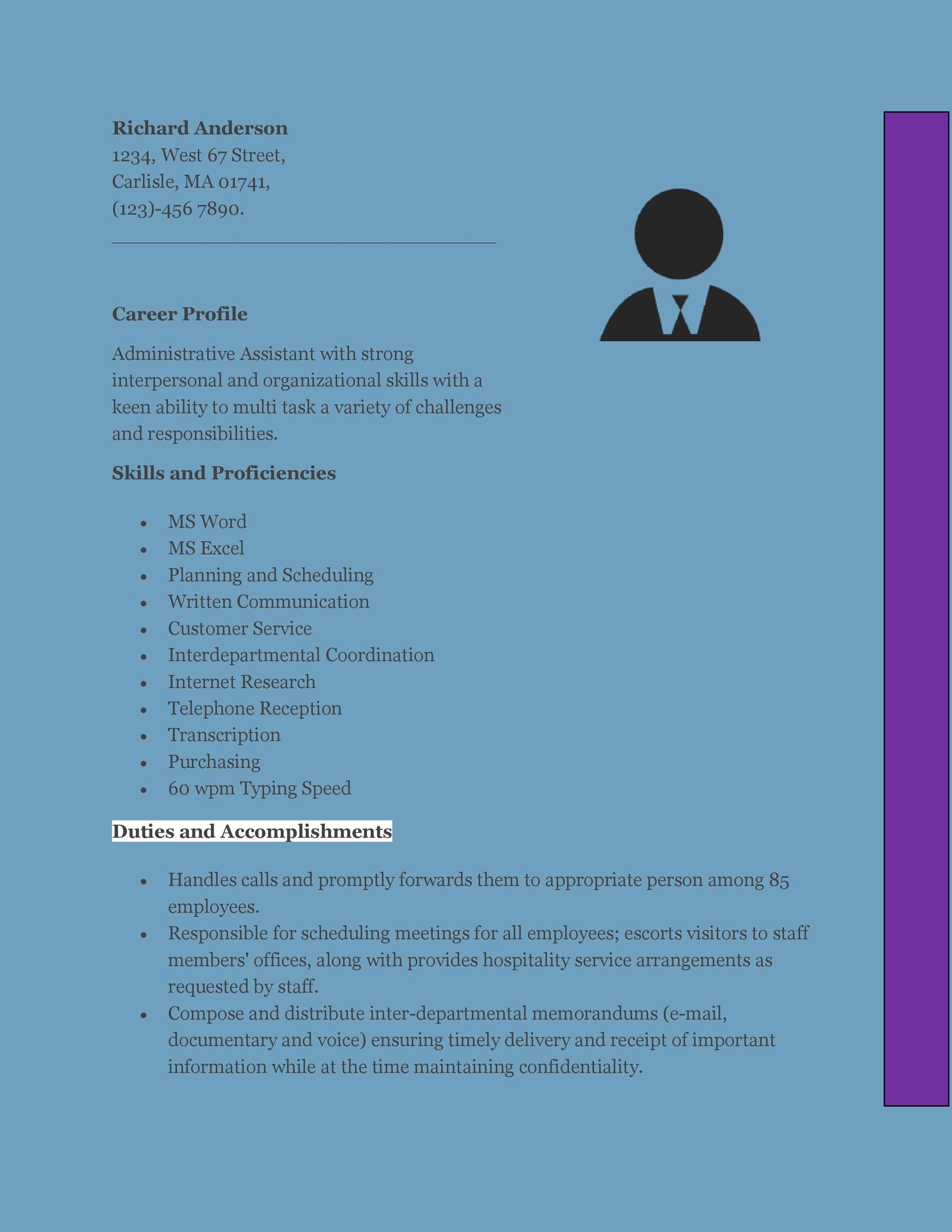 Free Administrative Assistant Resume Template 05