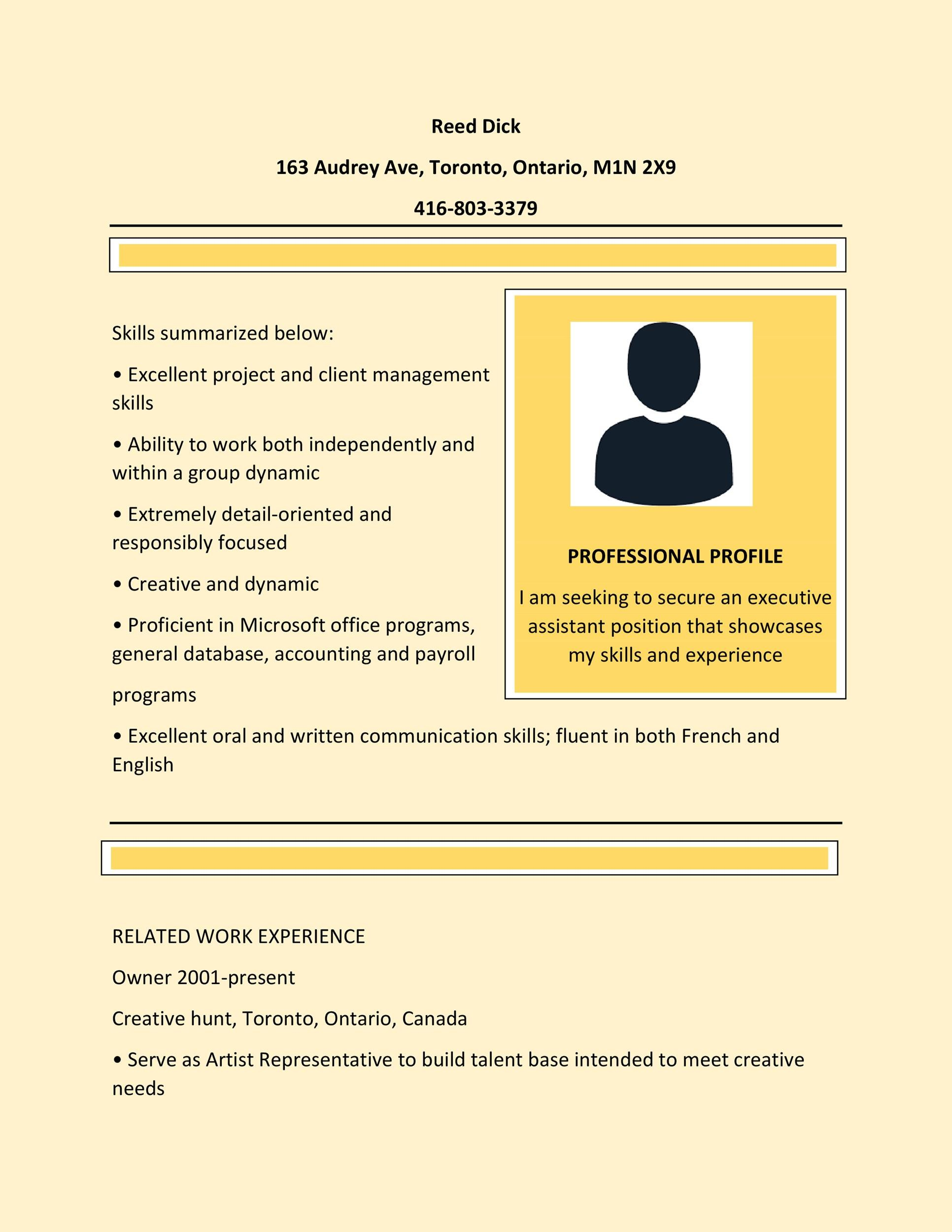 Executive Istant Resumes | 20 Free Administrative Assistant Resume Samples Template Lab