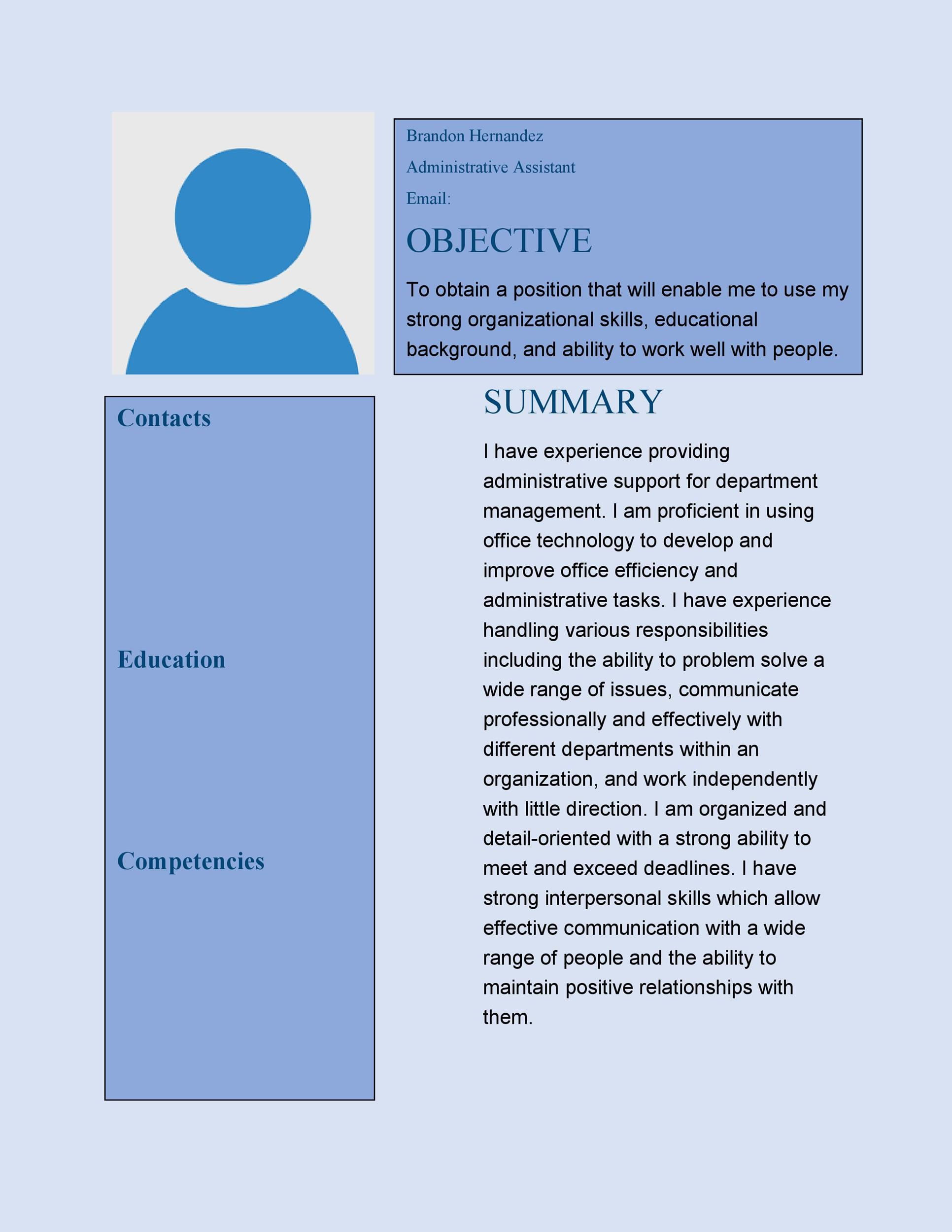 Free Administrative Assistant Resume Template 11