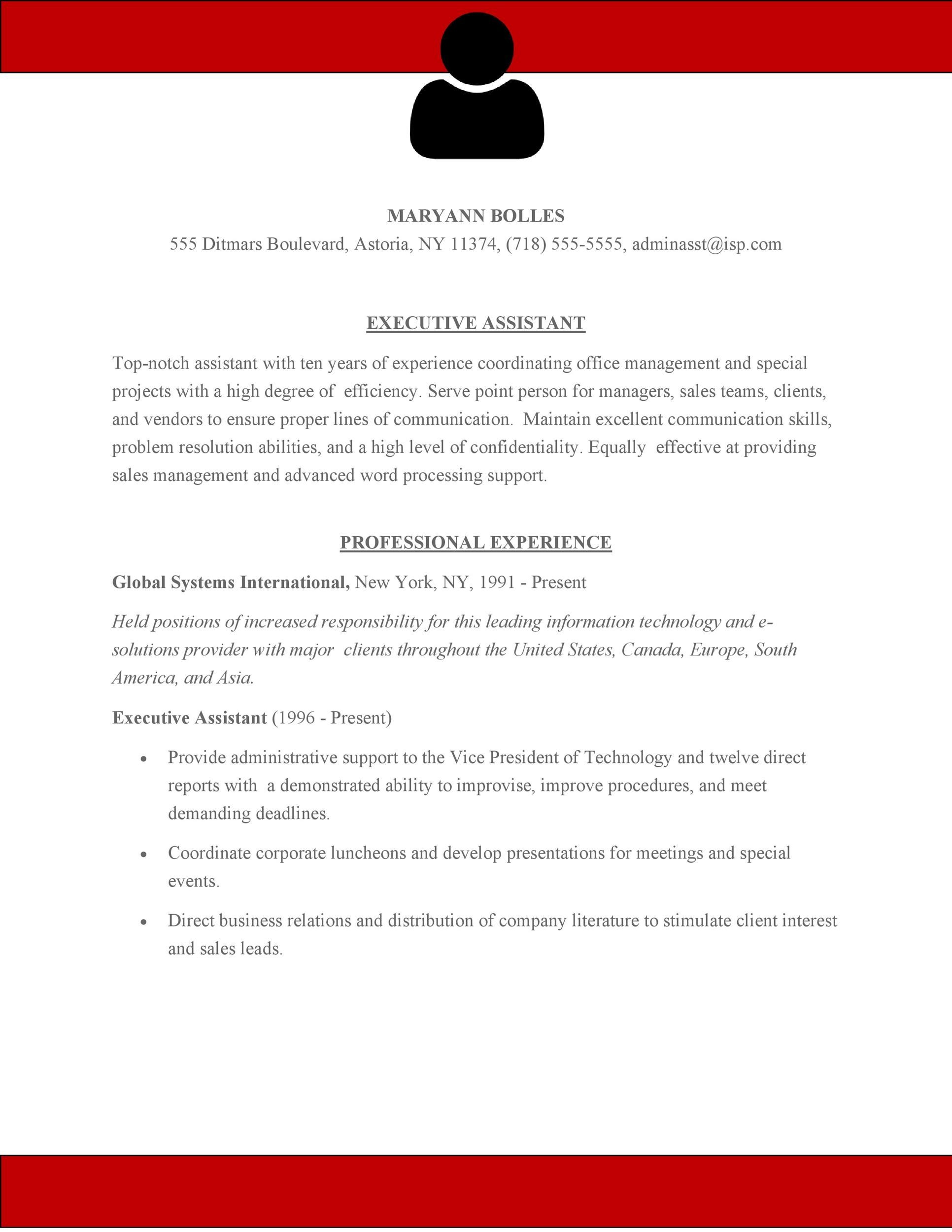 Free Administrative Assistant Resume Template 12