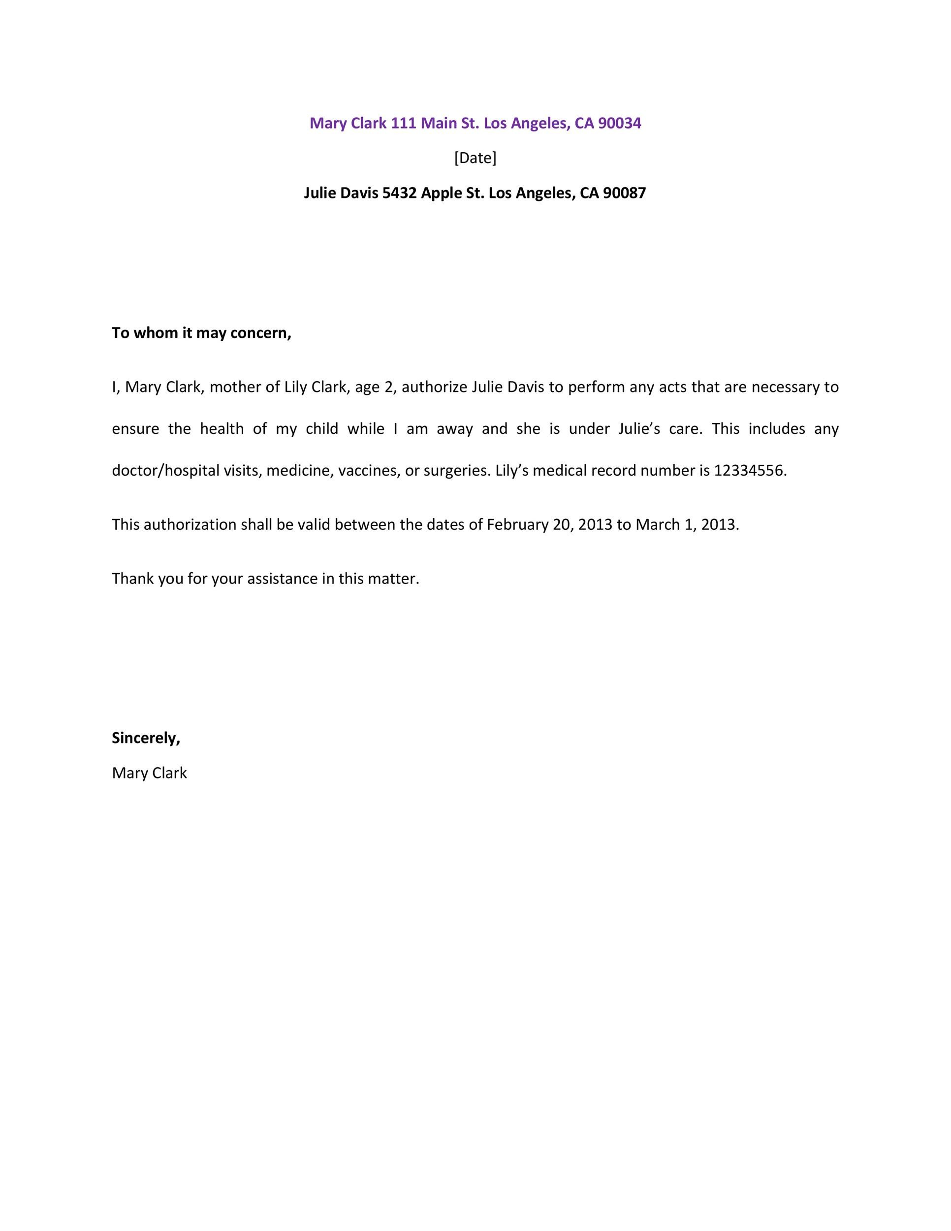 Printable Authorization Letter 08