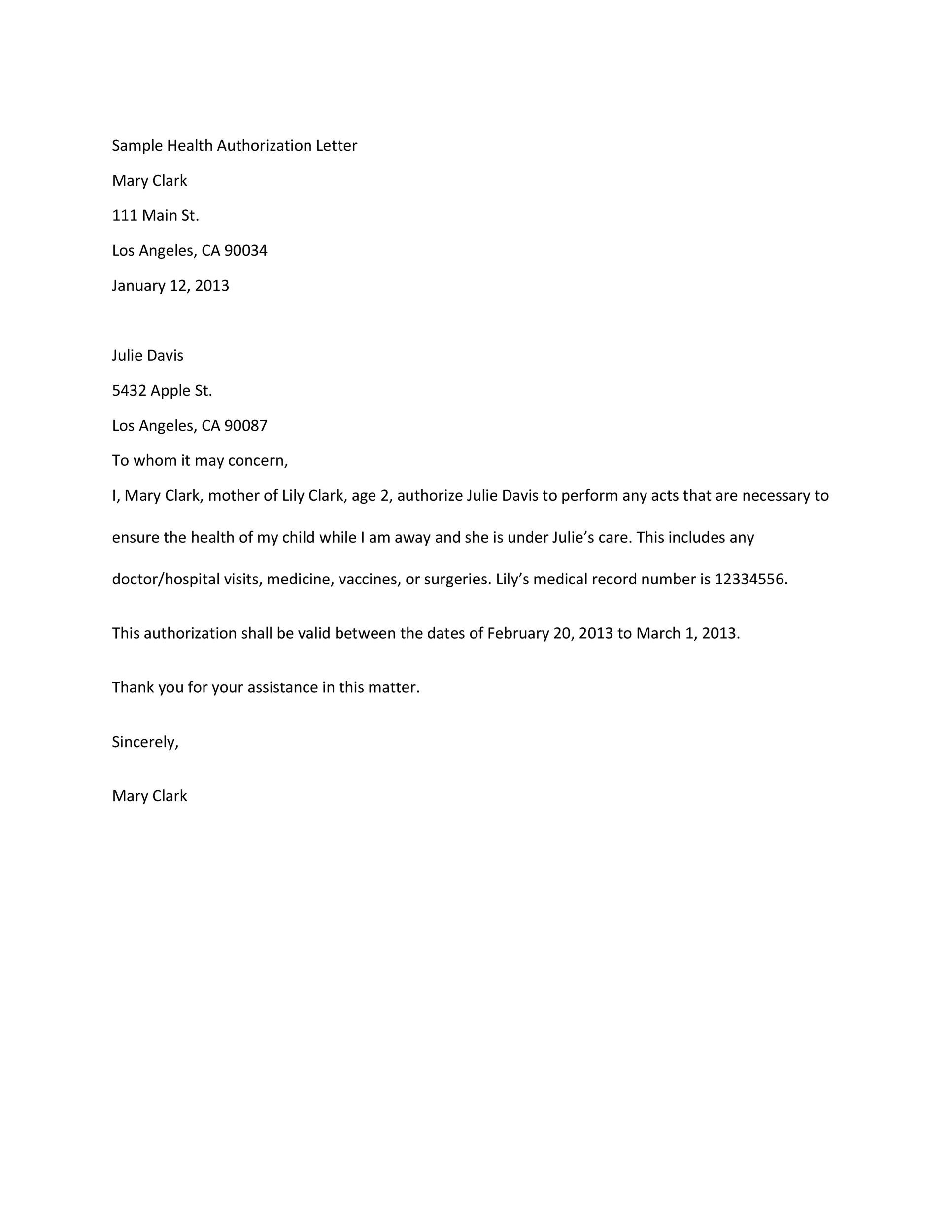 printable authorization letter 14