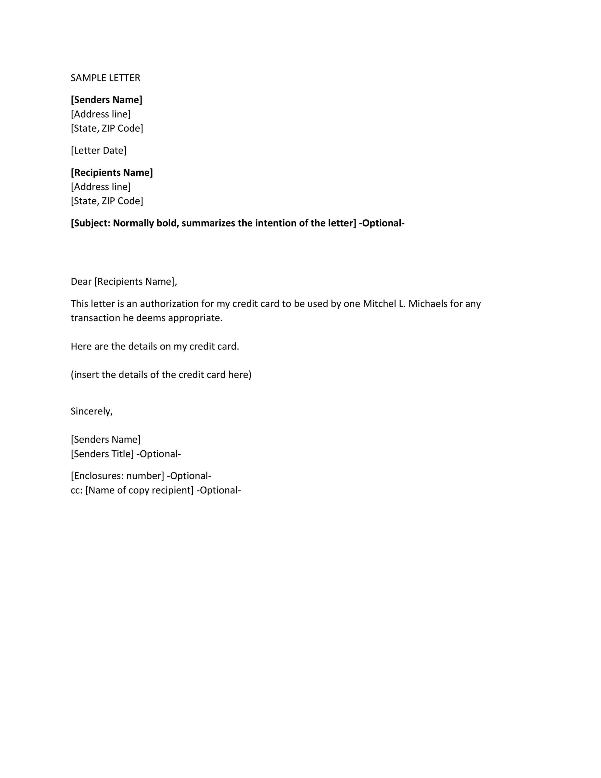 Printable Authorization Letter 18
