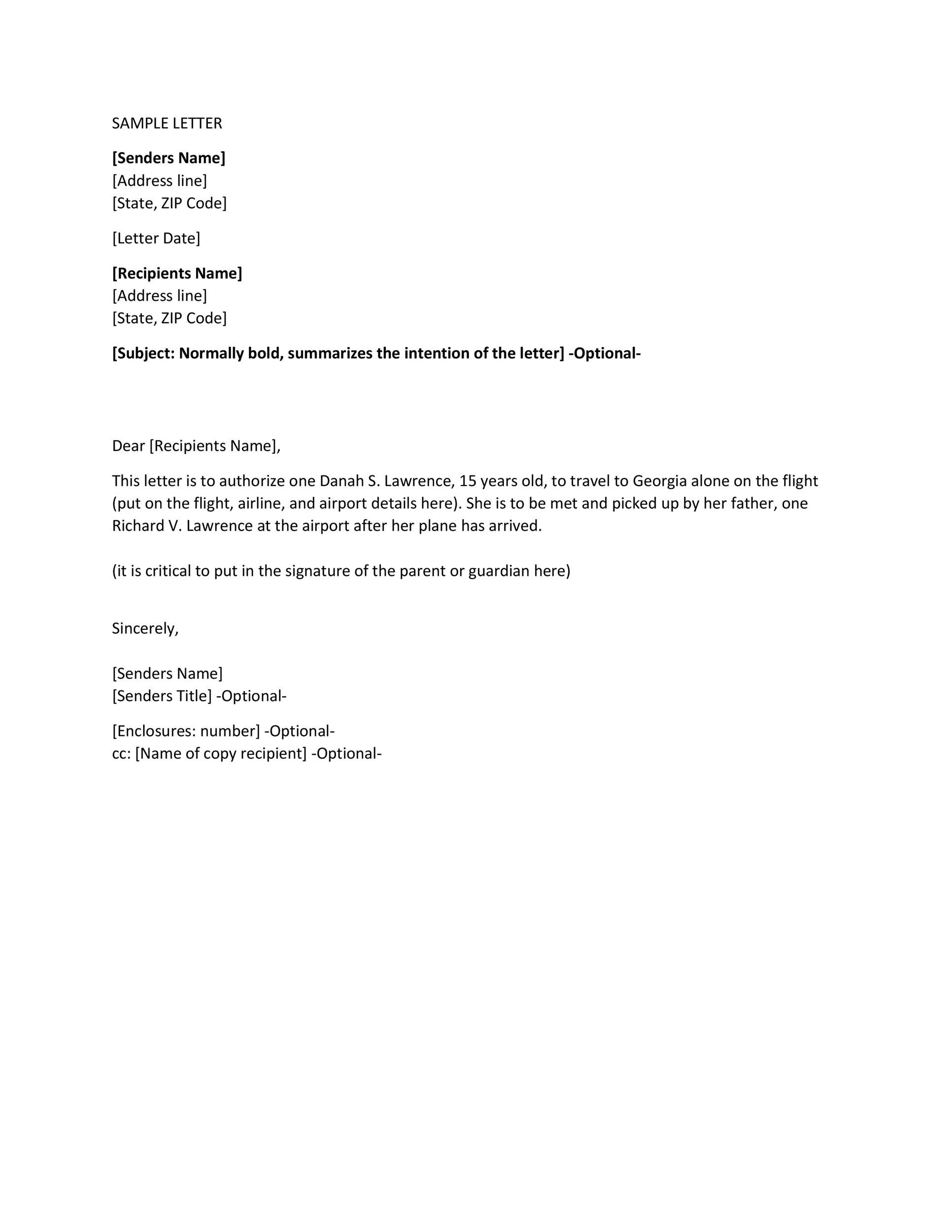 Authorization Letter 20