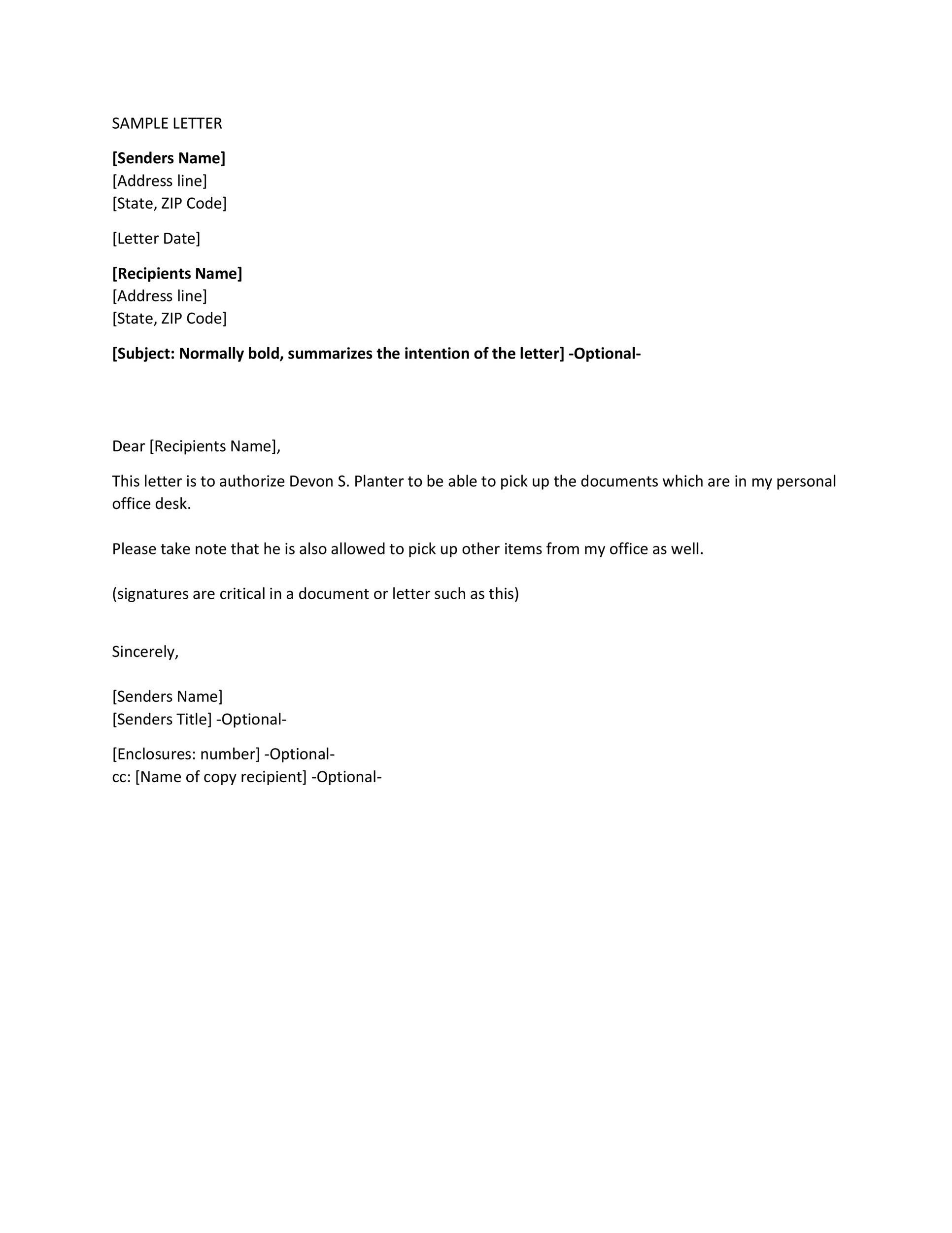 Free Authorization Letter 23