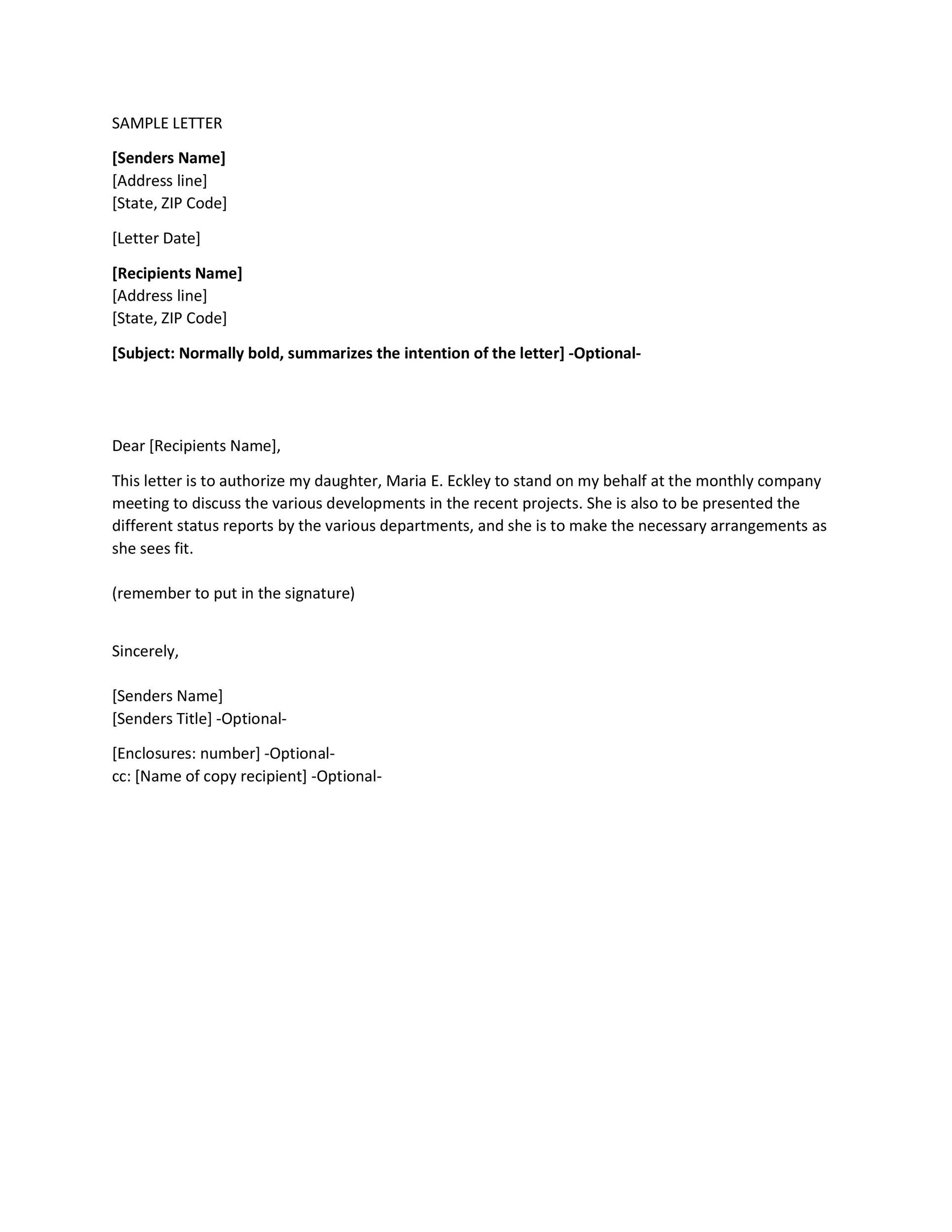 Free Authorization Letter 24