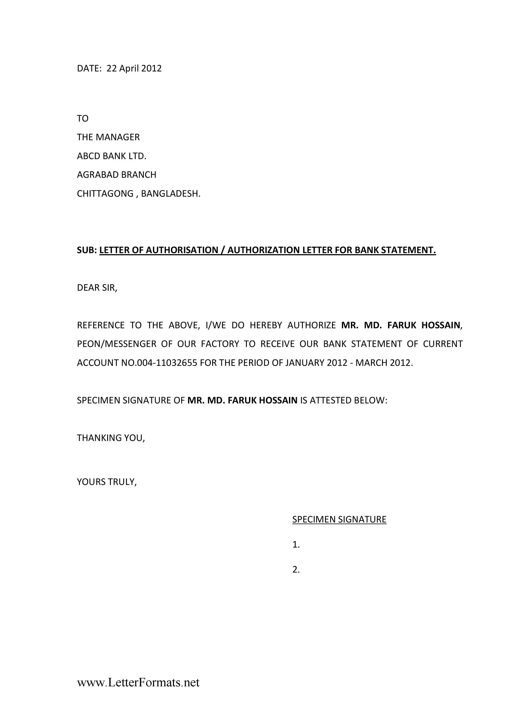 Authorization Letter 36