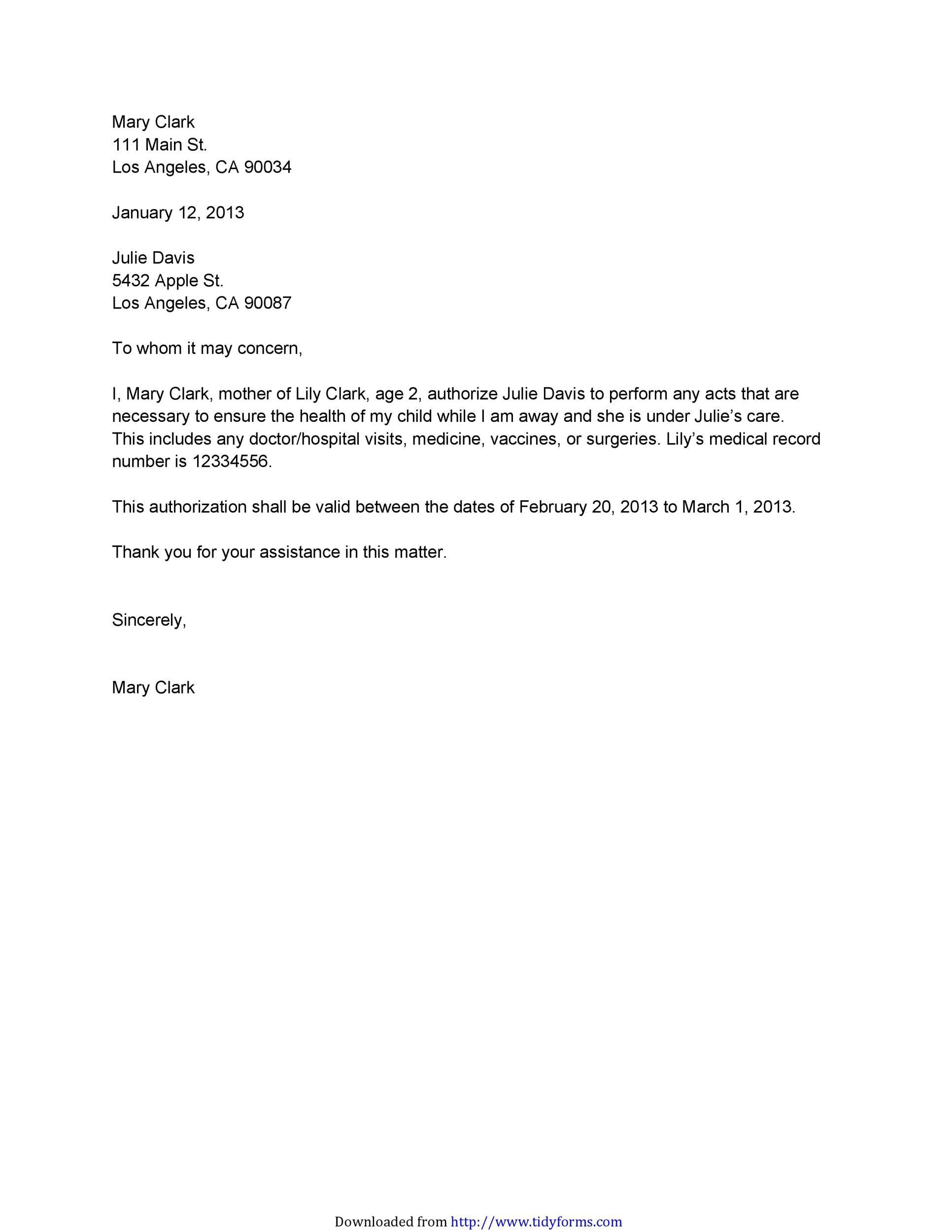 Authorization Letter 37
