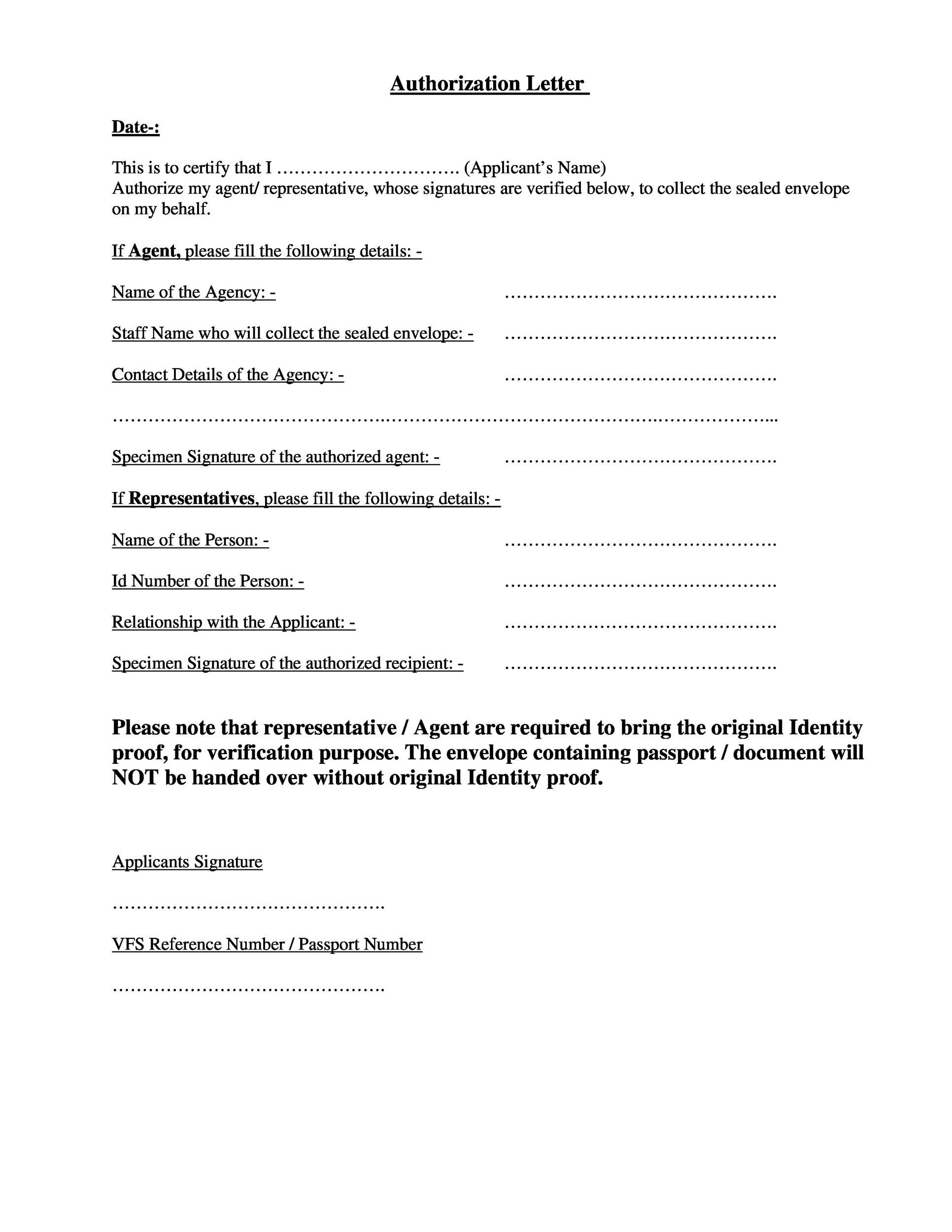 Free Authorization Letter 39