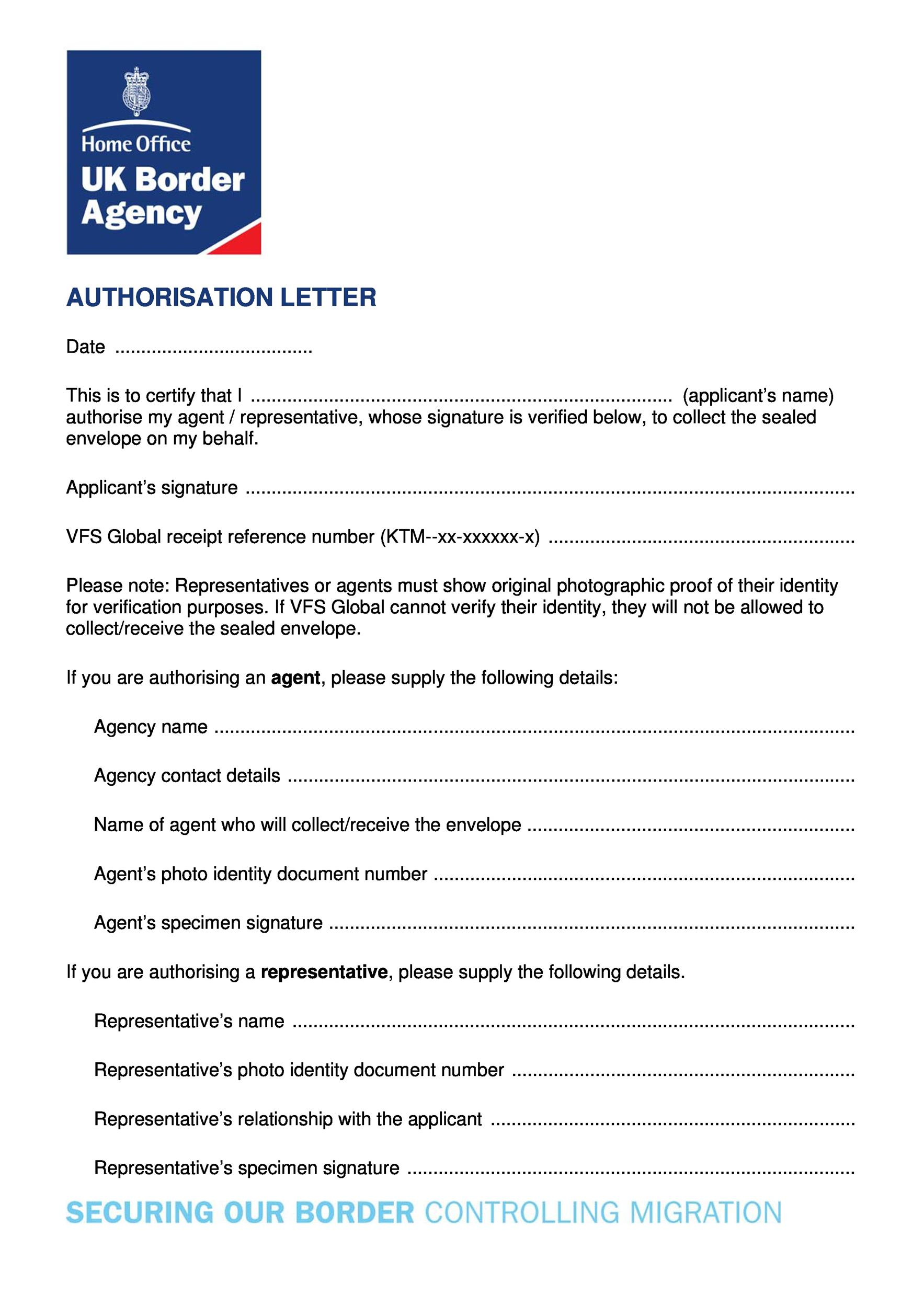 Authorization Letter 43