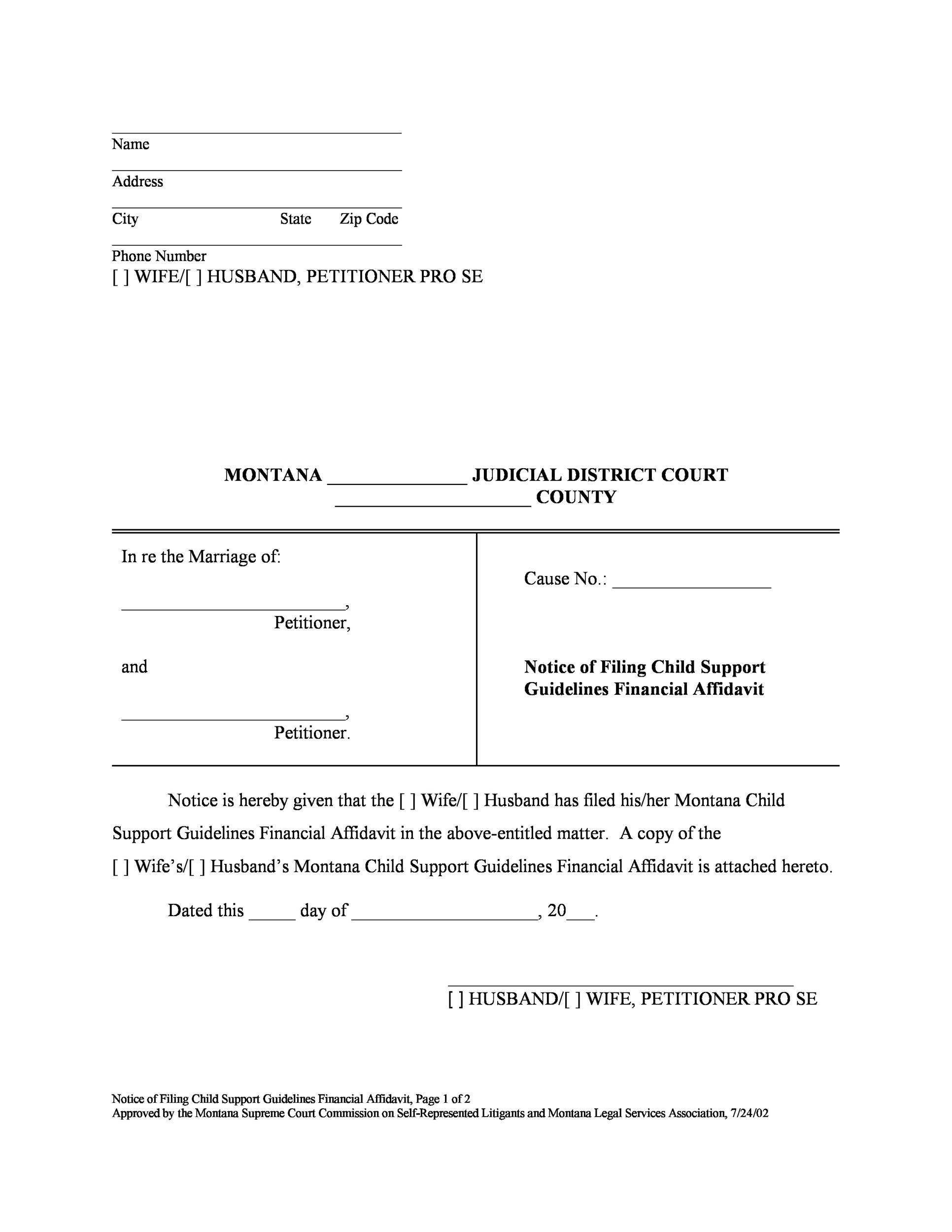 Free Divorce Papers Template 20