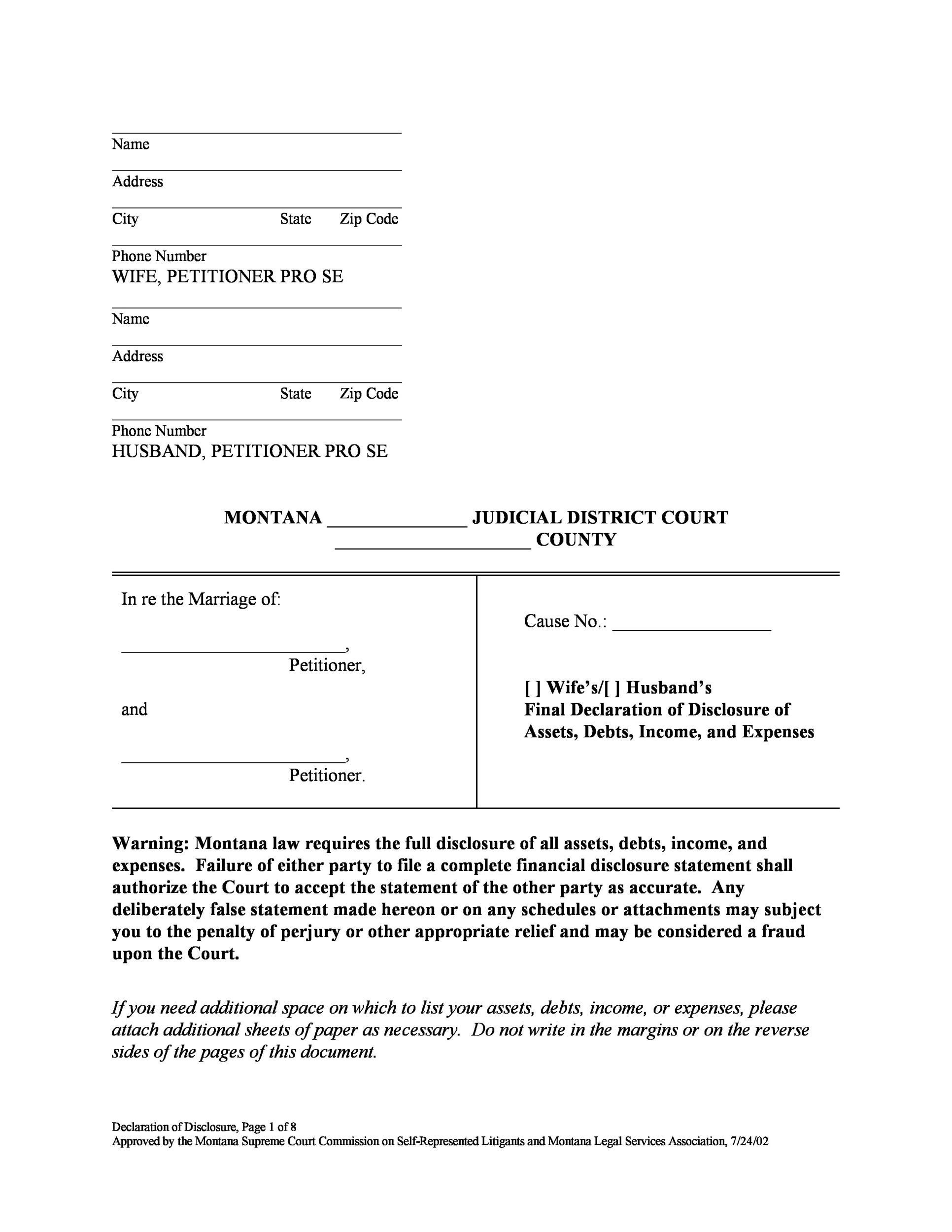 Free Divorce Papers Template 24