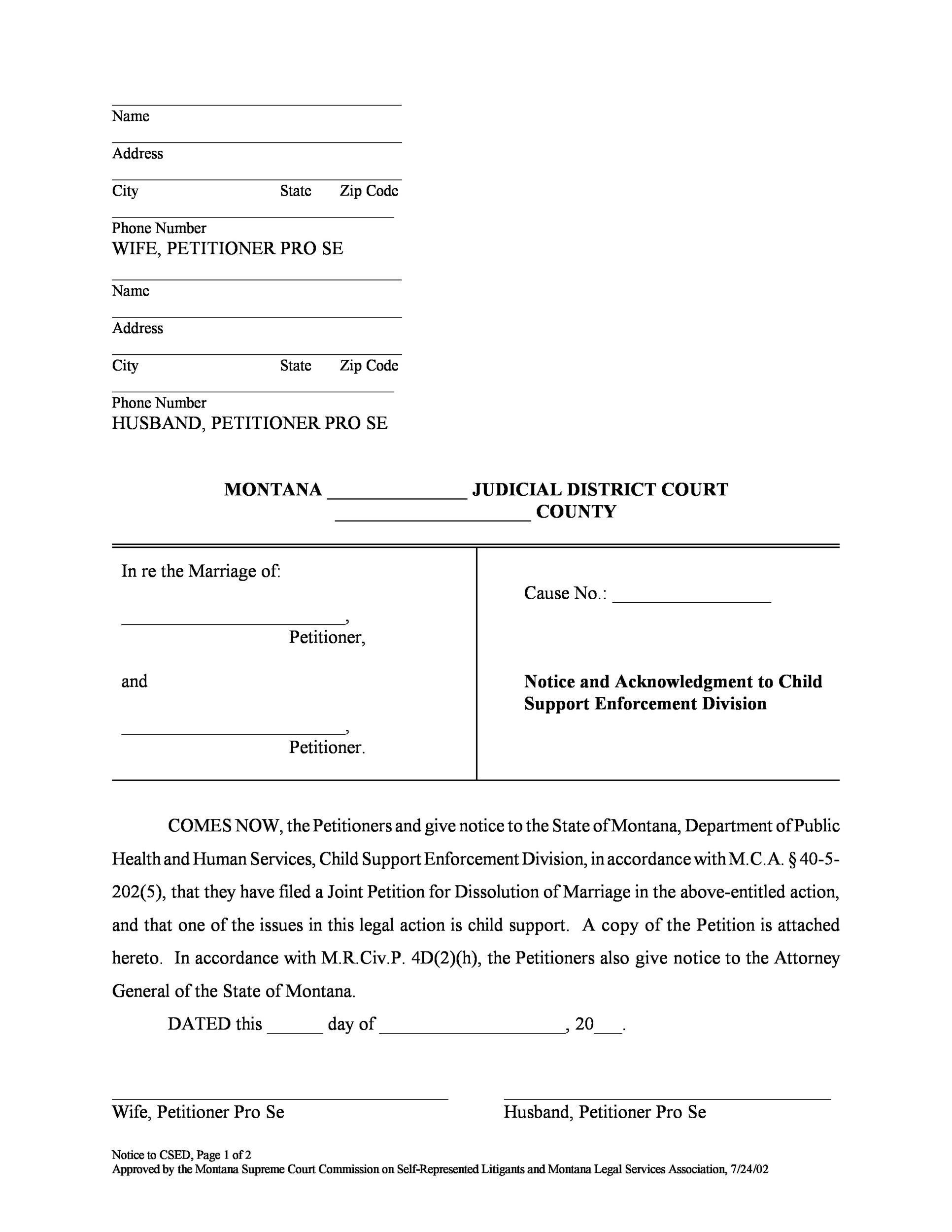 Divorce Papers Template 26