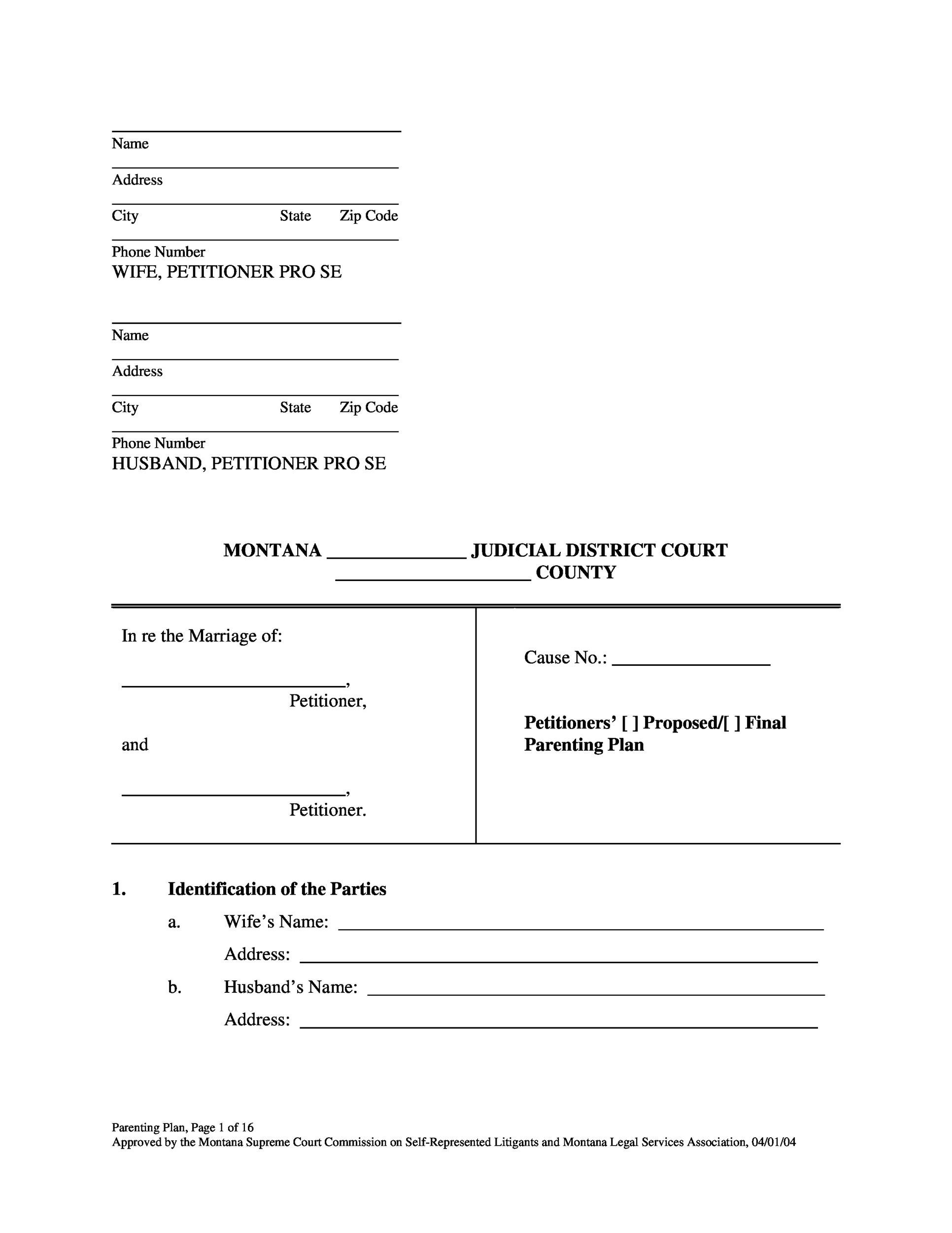Free Divorce Papers Template 27