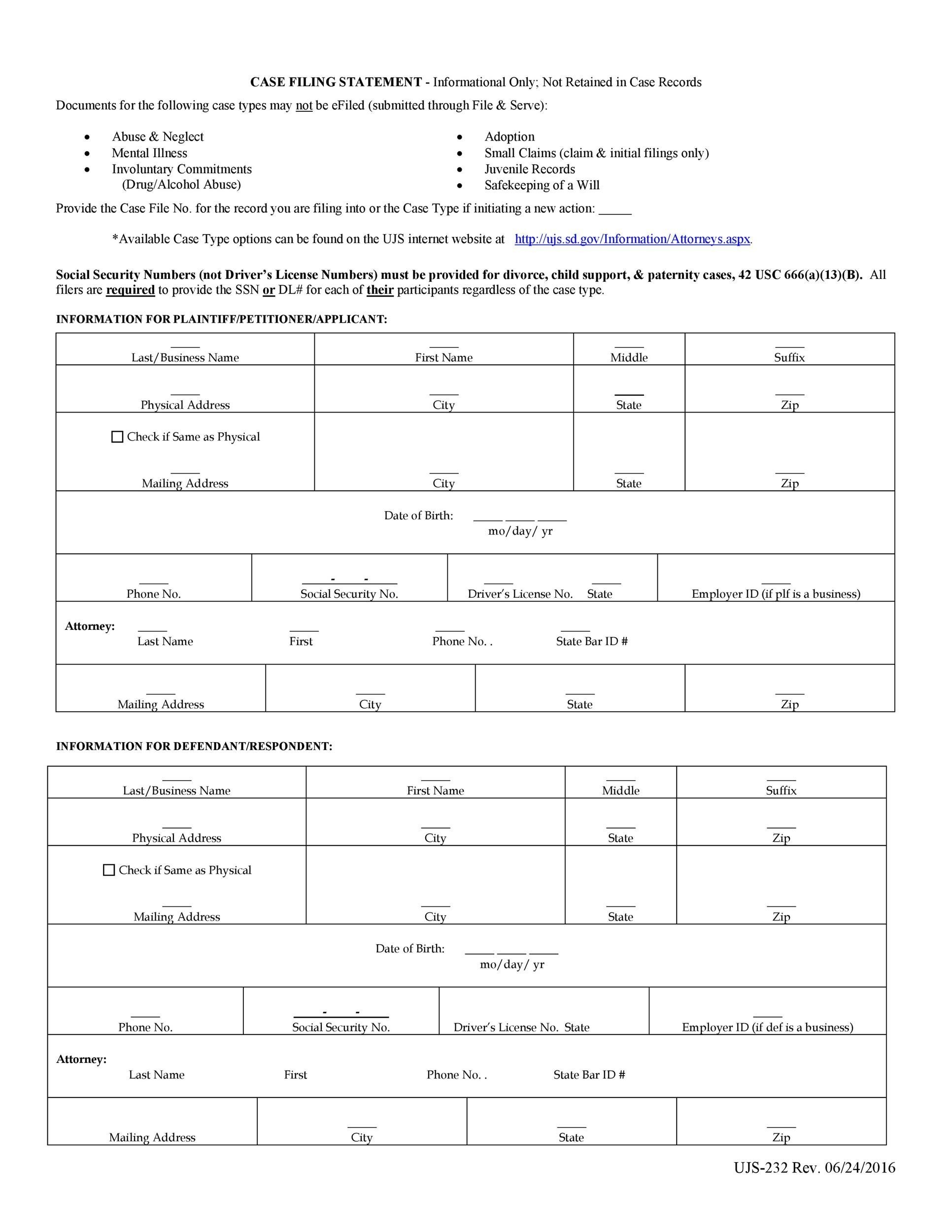 Free Divorce Papers Template 39