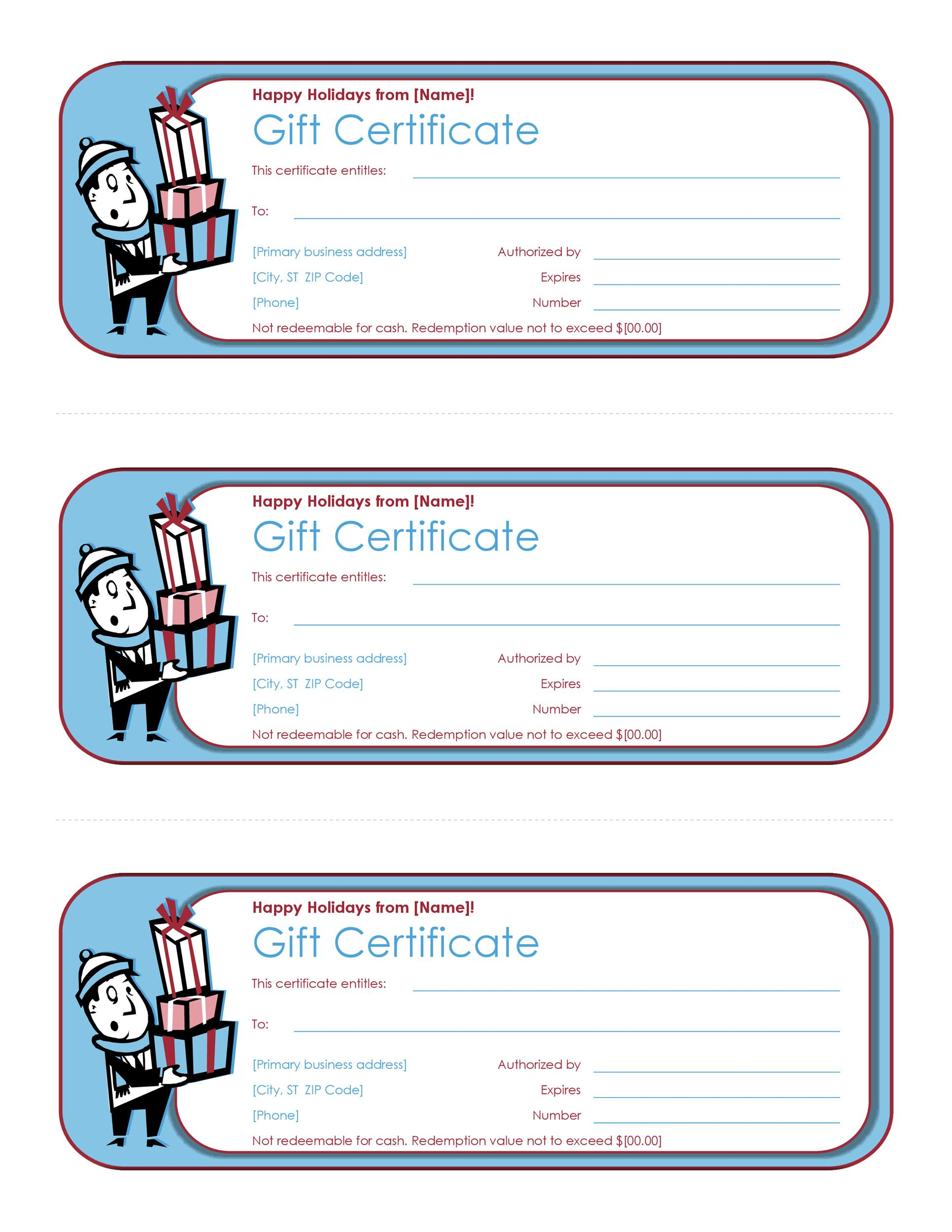 40+ Free Gift Certificate Templates - Template Lab