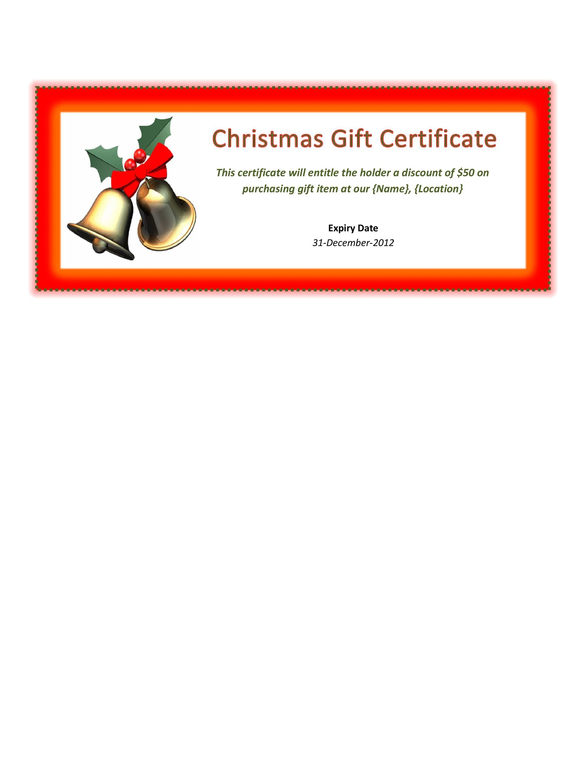 Gift Certificates Template from templatelab.com