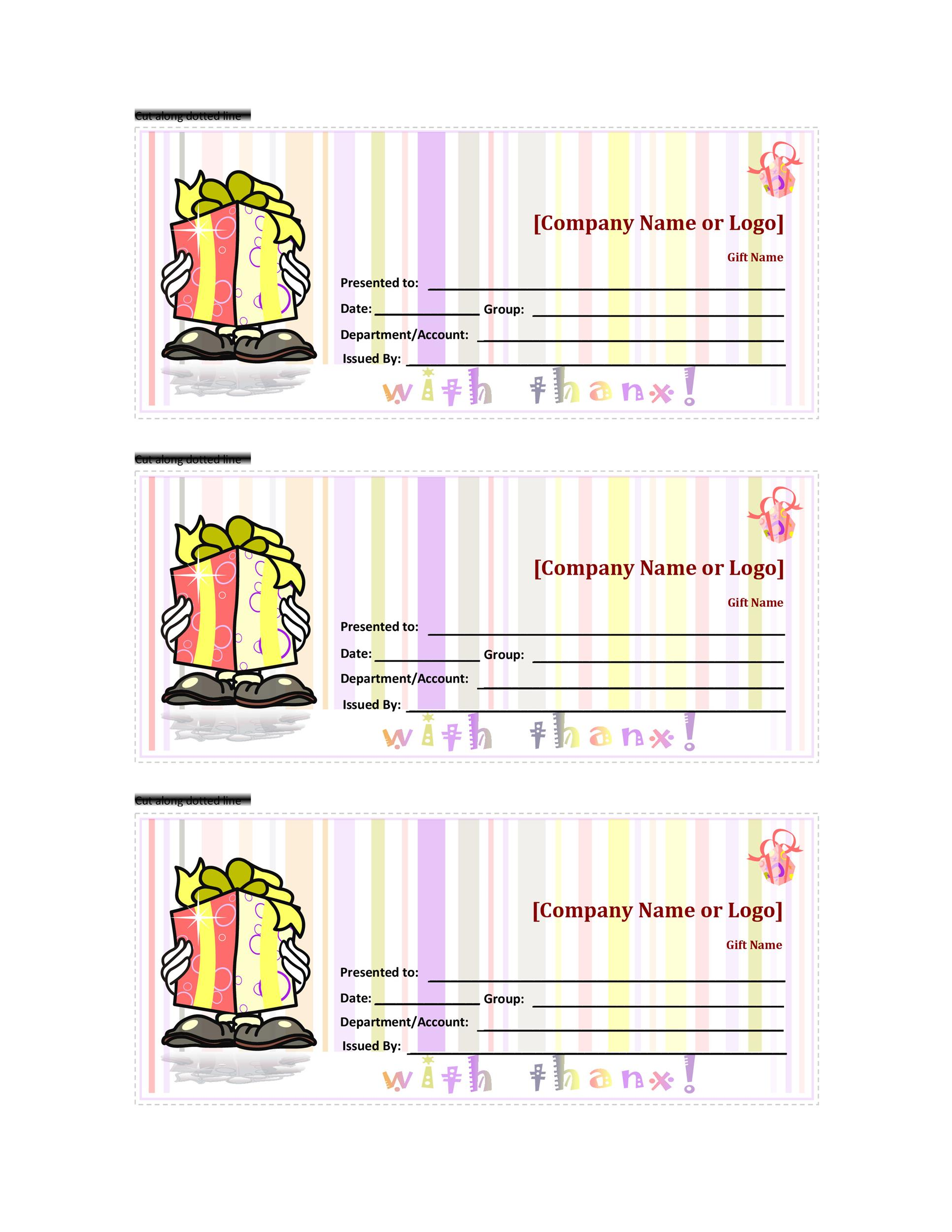Free Gift Certificate Template 22